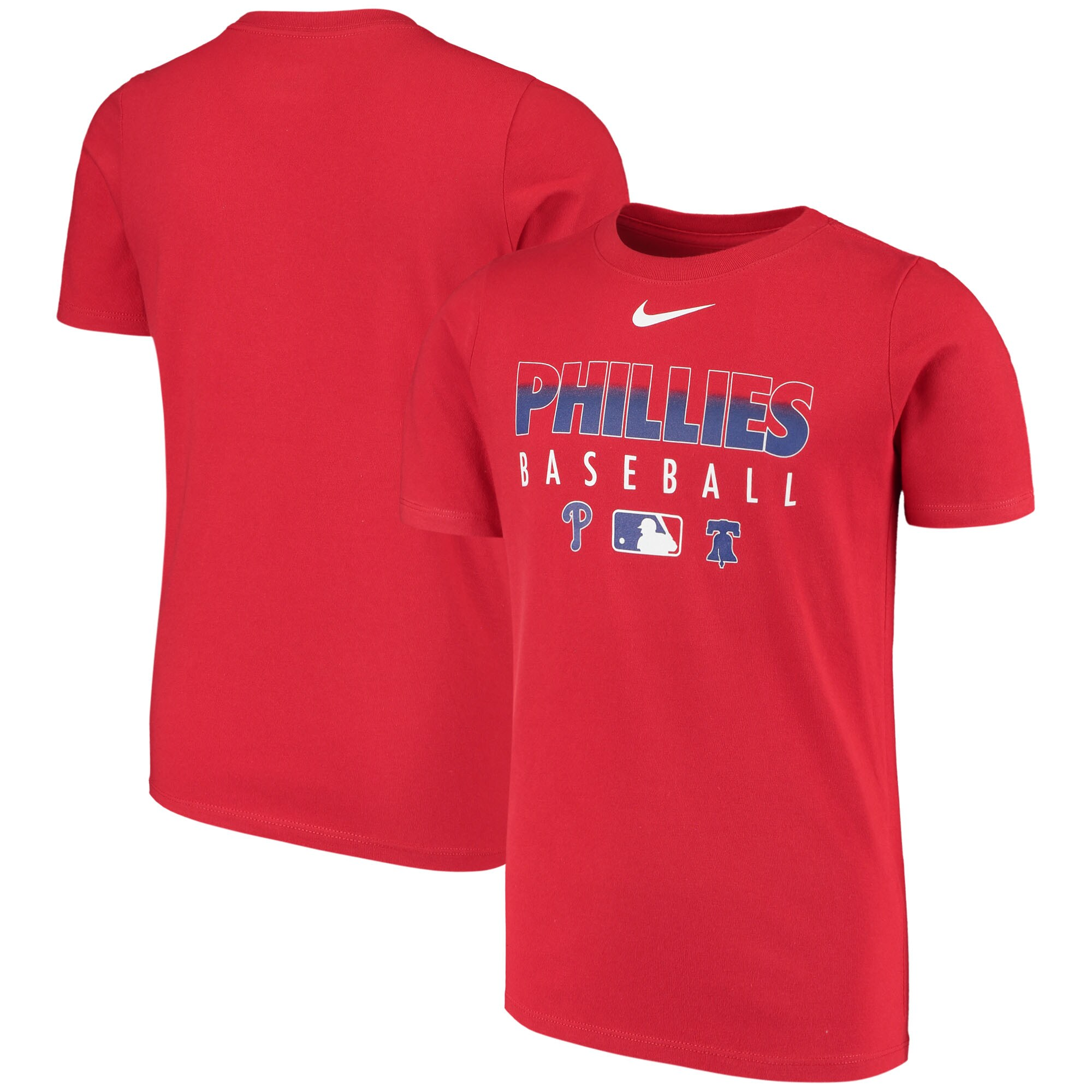 Philadelphia Phillies Nike Youth Early Work Performance T-Shirt - Red