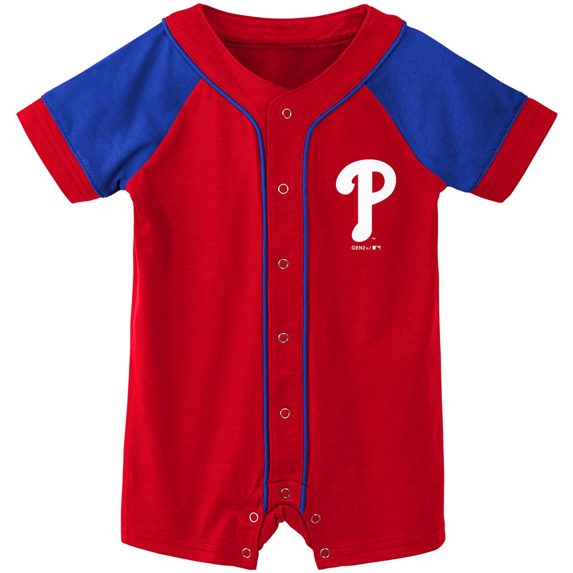 Philadelphia Phillies Newborn & Infant Little Slugger Romper - Red