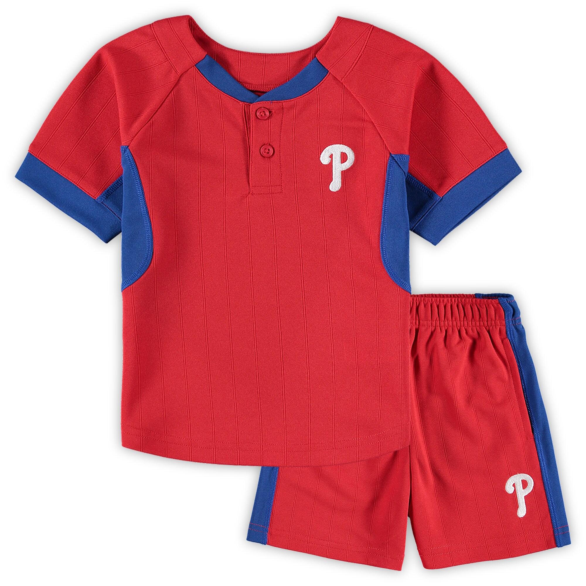 Philadelphia Phillies Toddler The Windup T-Shirt & Shorts Set - Red