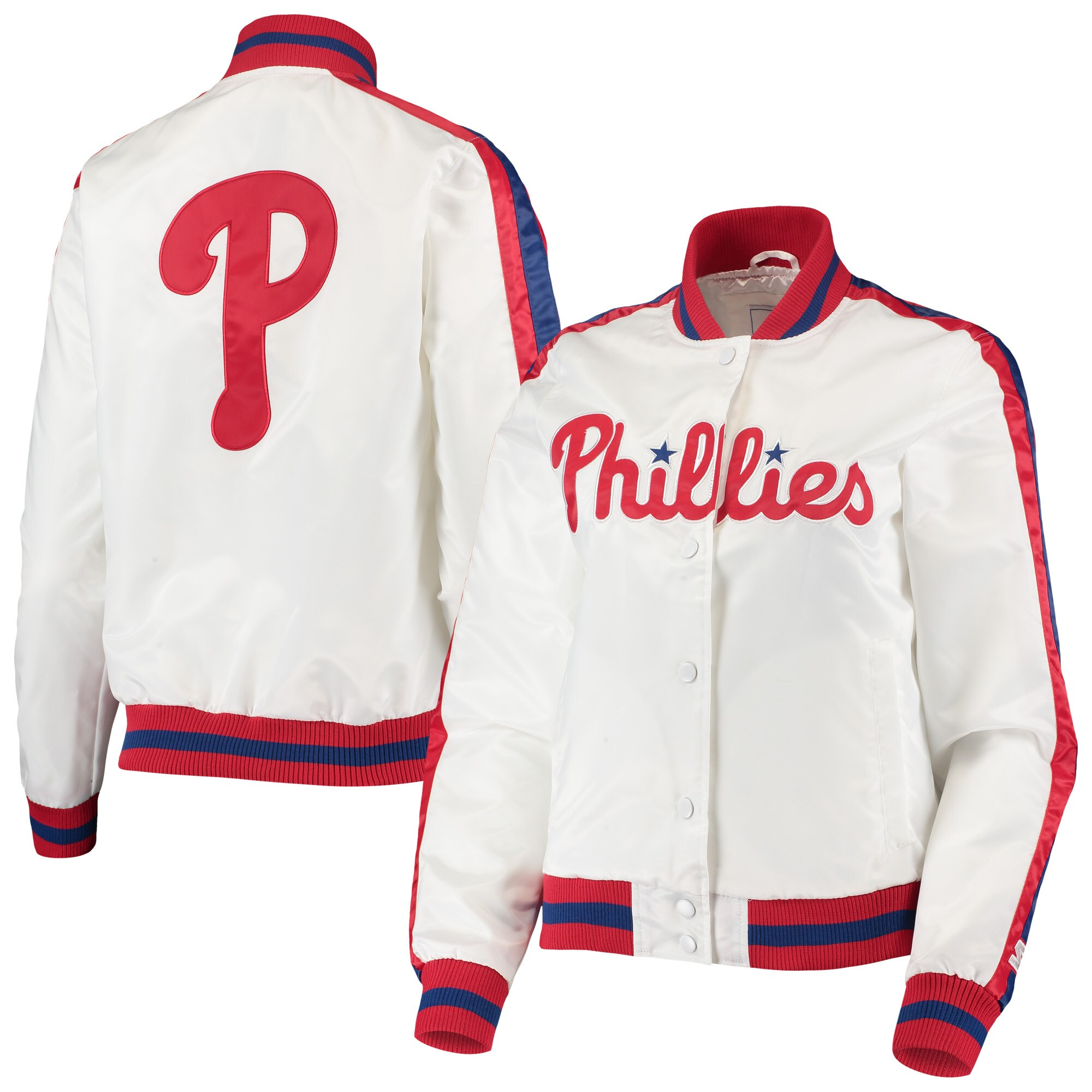 Philadelphia Phillies Starter Women's Hometown Full-Snap Jacket - White/Red