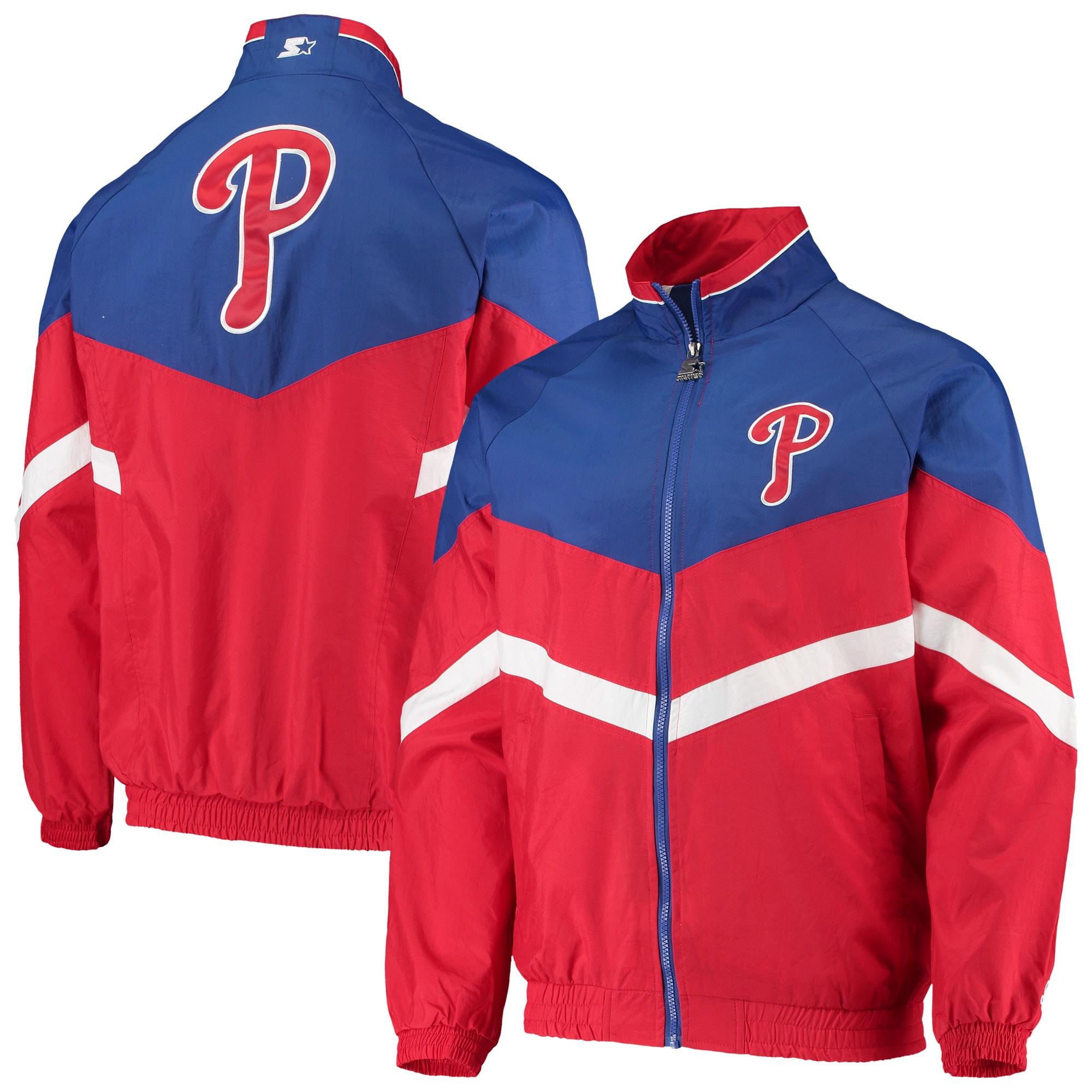 Philadelphia Phillies Starter The Bench Coach Full-Zip Jacket - Red/Royal
