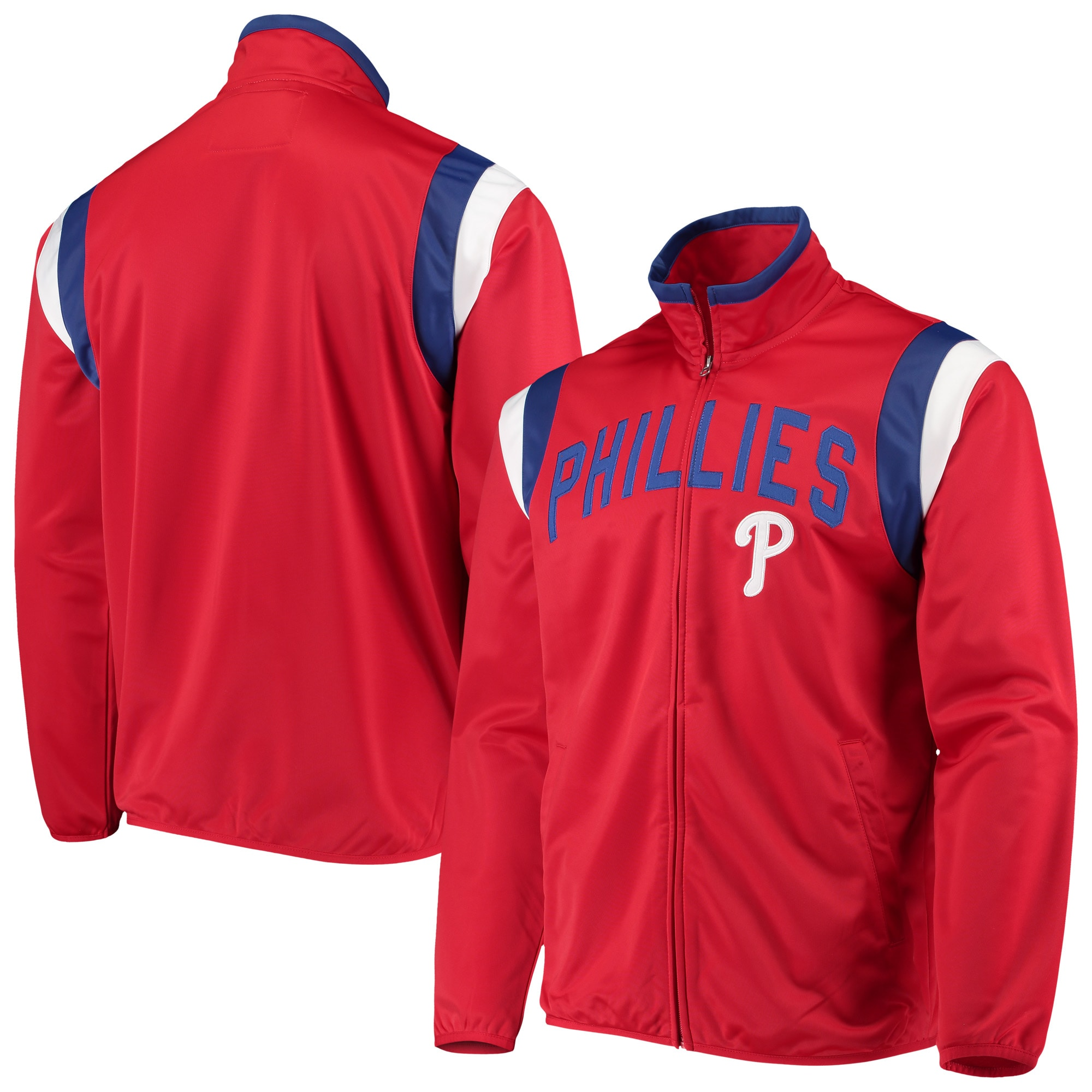 Philadelphia Phillies G-III Sports by Carl Banks Post Up Full-Zip Track Jacket - Red