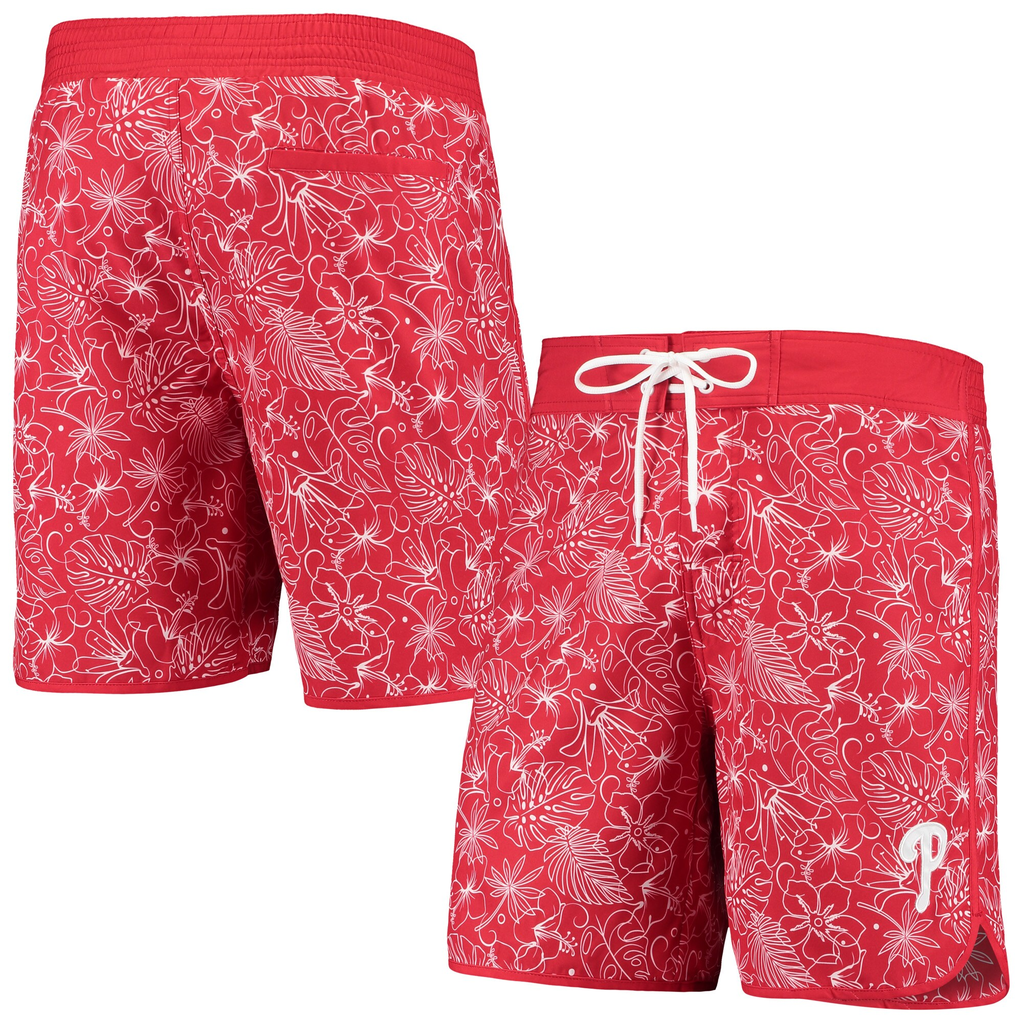 Philadelphia Phillies G-III Sports by Carl Banks Wave Valley Swim Trunks - Red