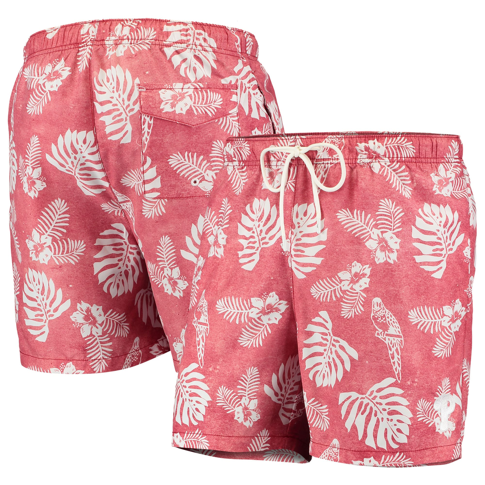 Philadelphia Phillies Tommy Bahama Naples Parrot in Paradise Swim Shorts - Red