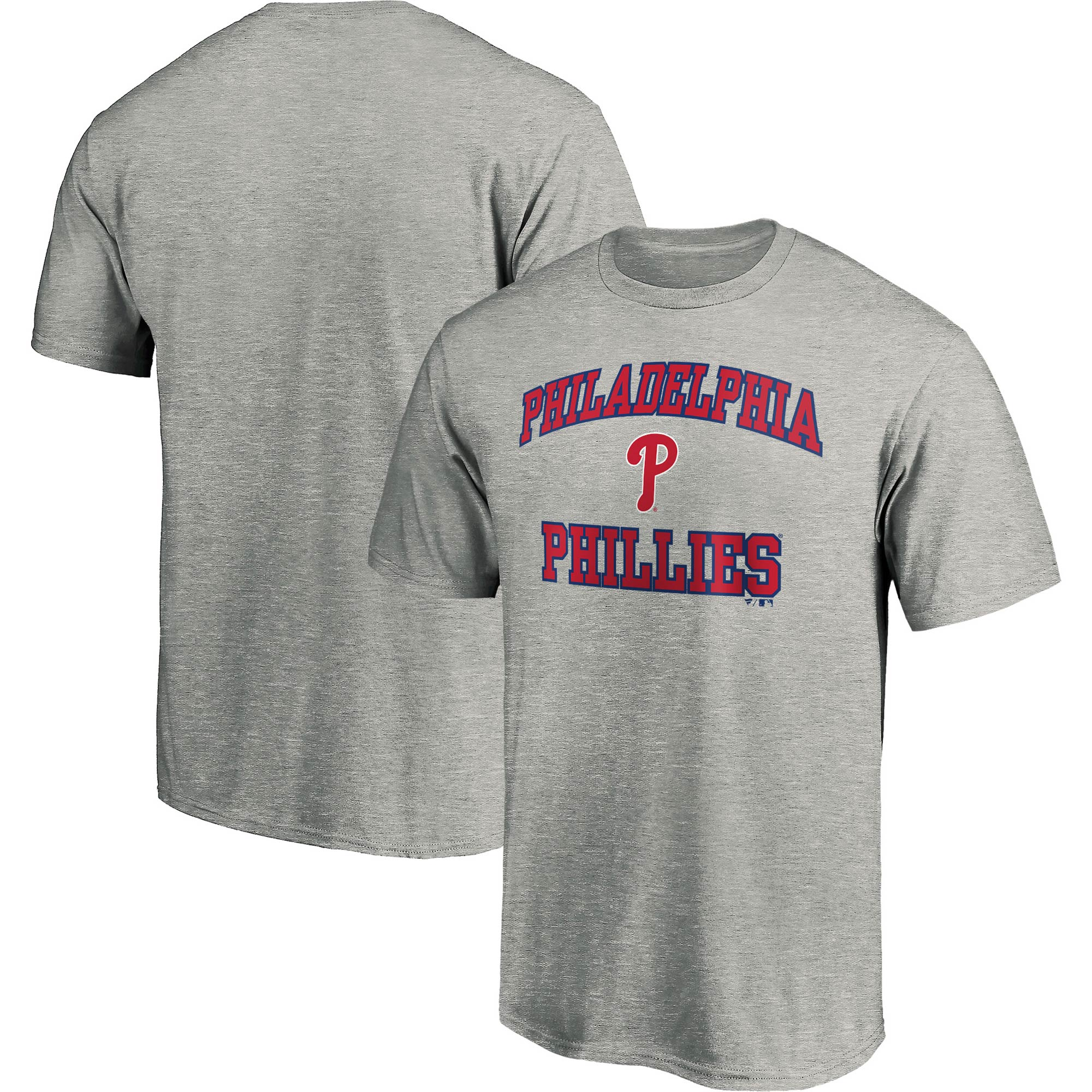 Philadelphia Phillies Fanatics Branded Heart & Soul T-Shirt - Heathered Gray