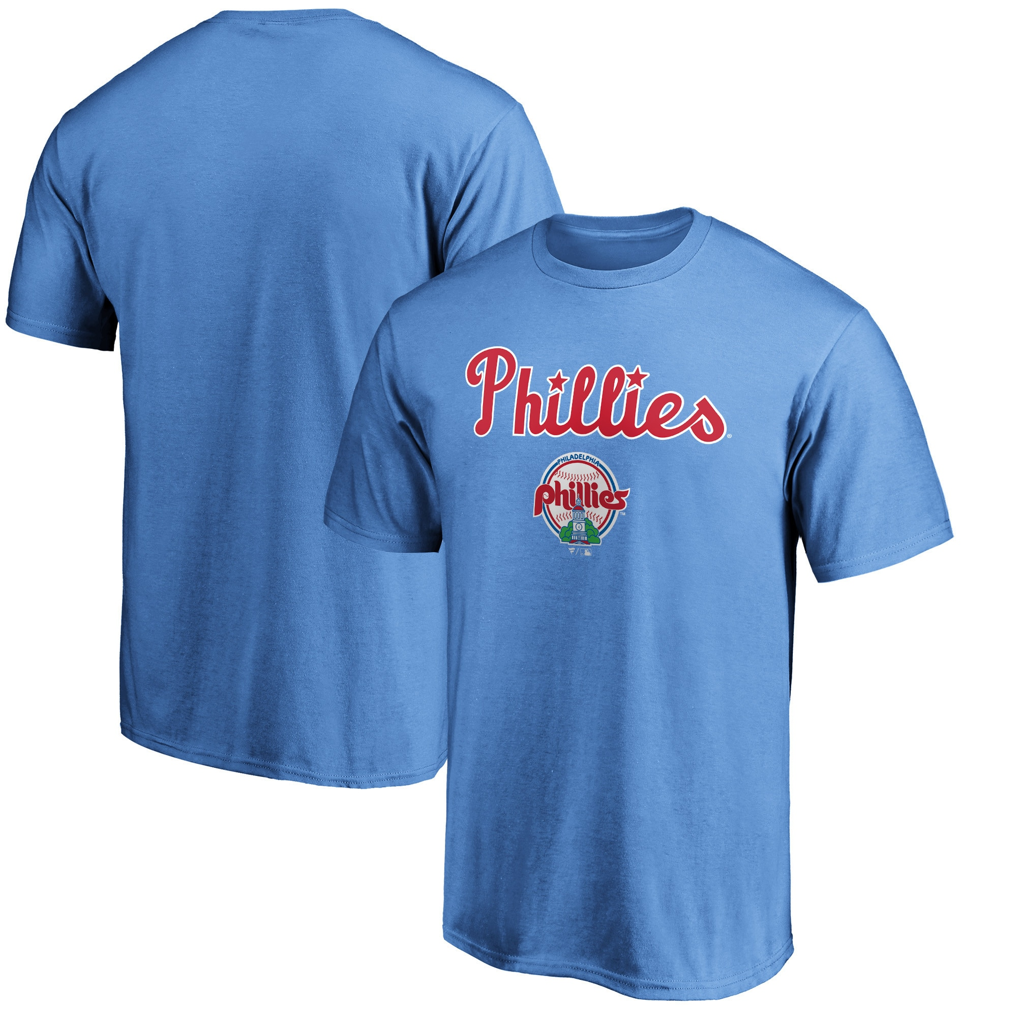 Philadelphia Phillies Fanatics Branded Cooperstown Collection Team Wahconah T-Shirt - Light Blue