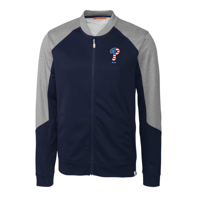 Philadelphia Phillies Cutter & Buck Stars & Stripes Pop Fly Full-Zip Jacket - Navy