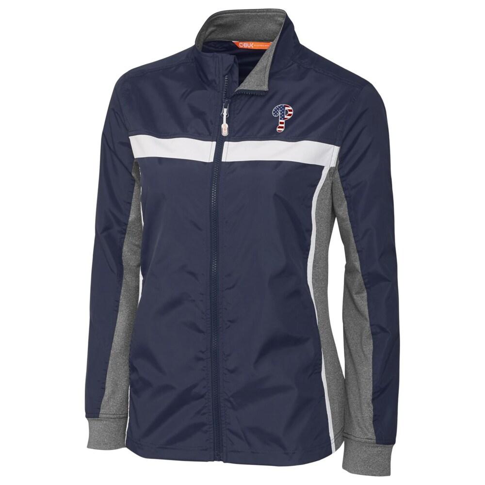 Philadelphia Phillies Cutter & Buck Women's Swish Full-Zip Jacket - Navy