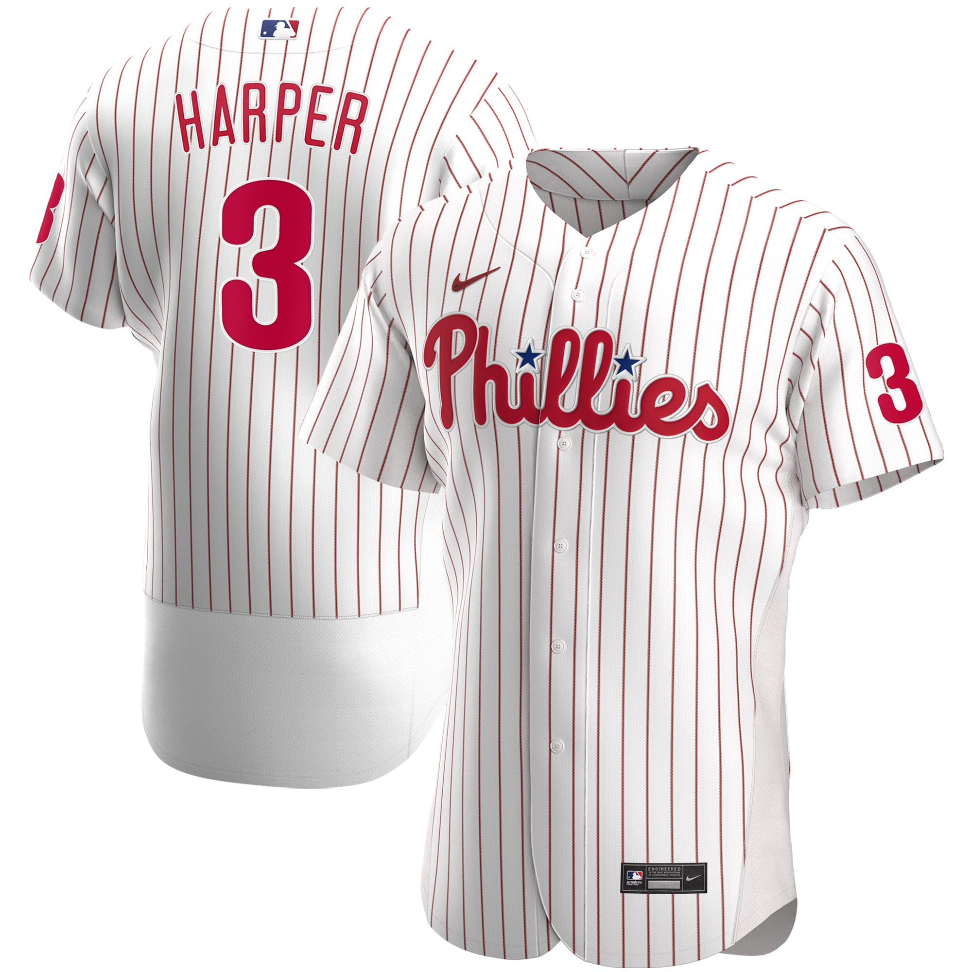Bryce Harper Philadelphia Phillies Nike Home 2020 Authentic Player Jersey - White