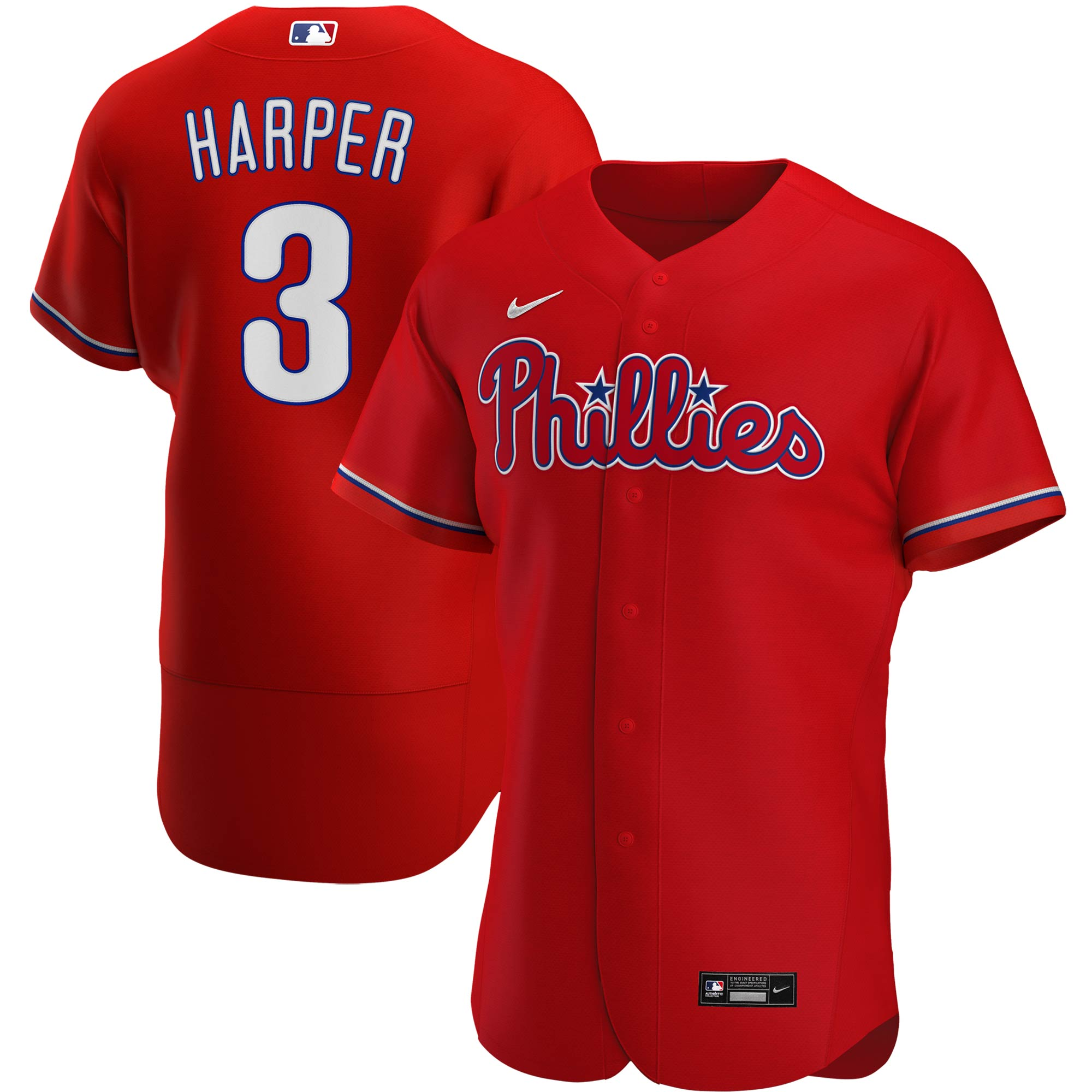 Bryce Harper Philadelphia Phillies Nike Alternate 2020 Authentic Player Jersey - Red