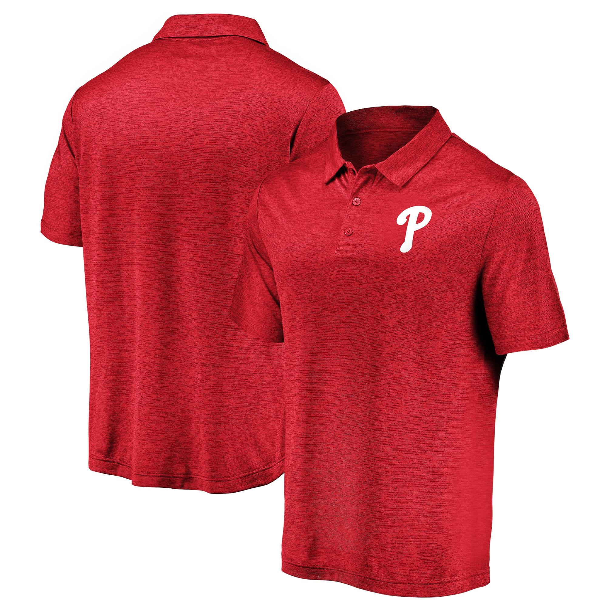 Philadelphia Phillies Fanatics Branded Iconic Striated Primary Logo Polo - Red