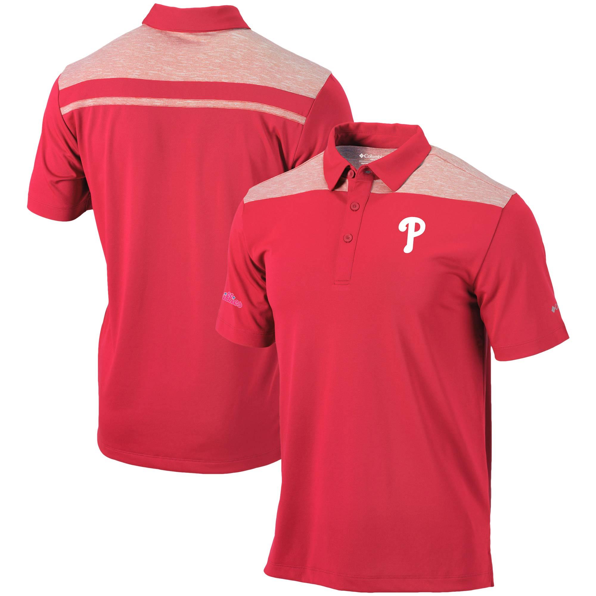 Philadelphia Phillies Columbia Utility Polo - Red