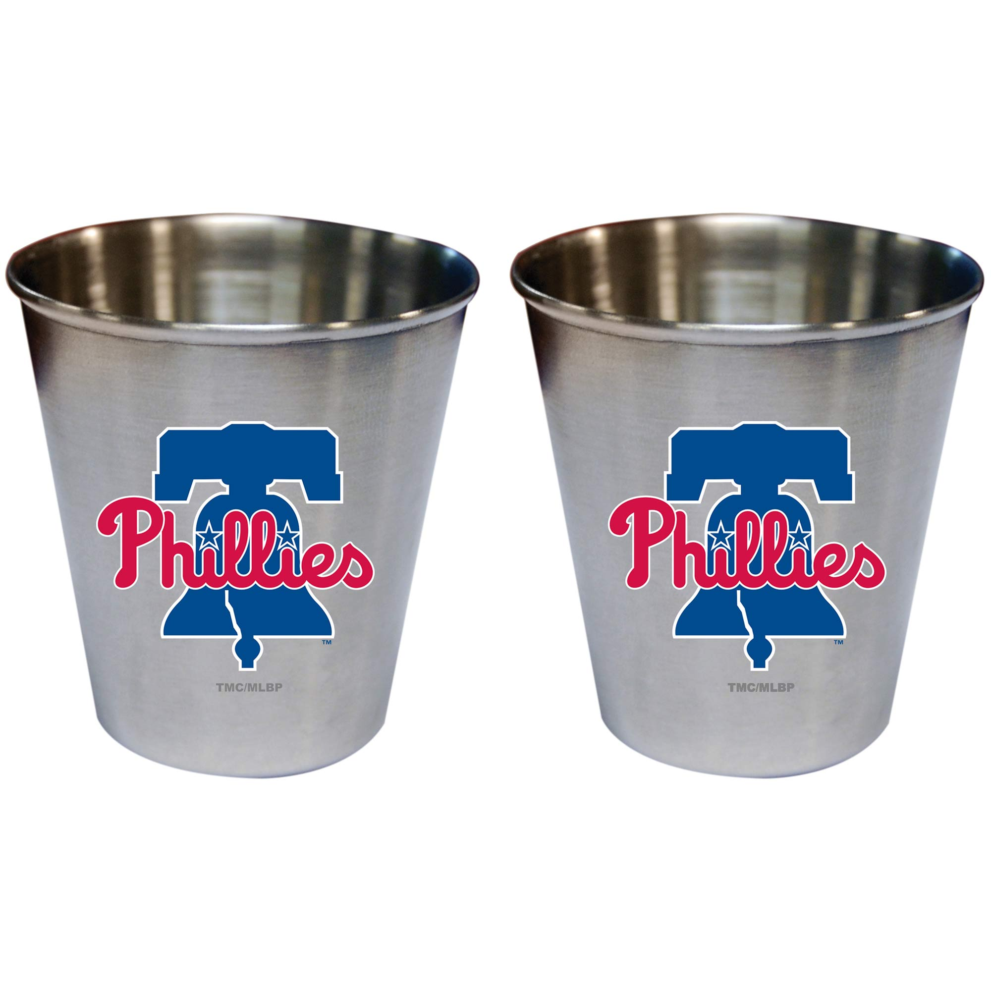 Philadelphia Phillies 2oz. Stainless Steel Collector Cups Two-Pack Set