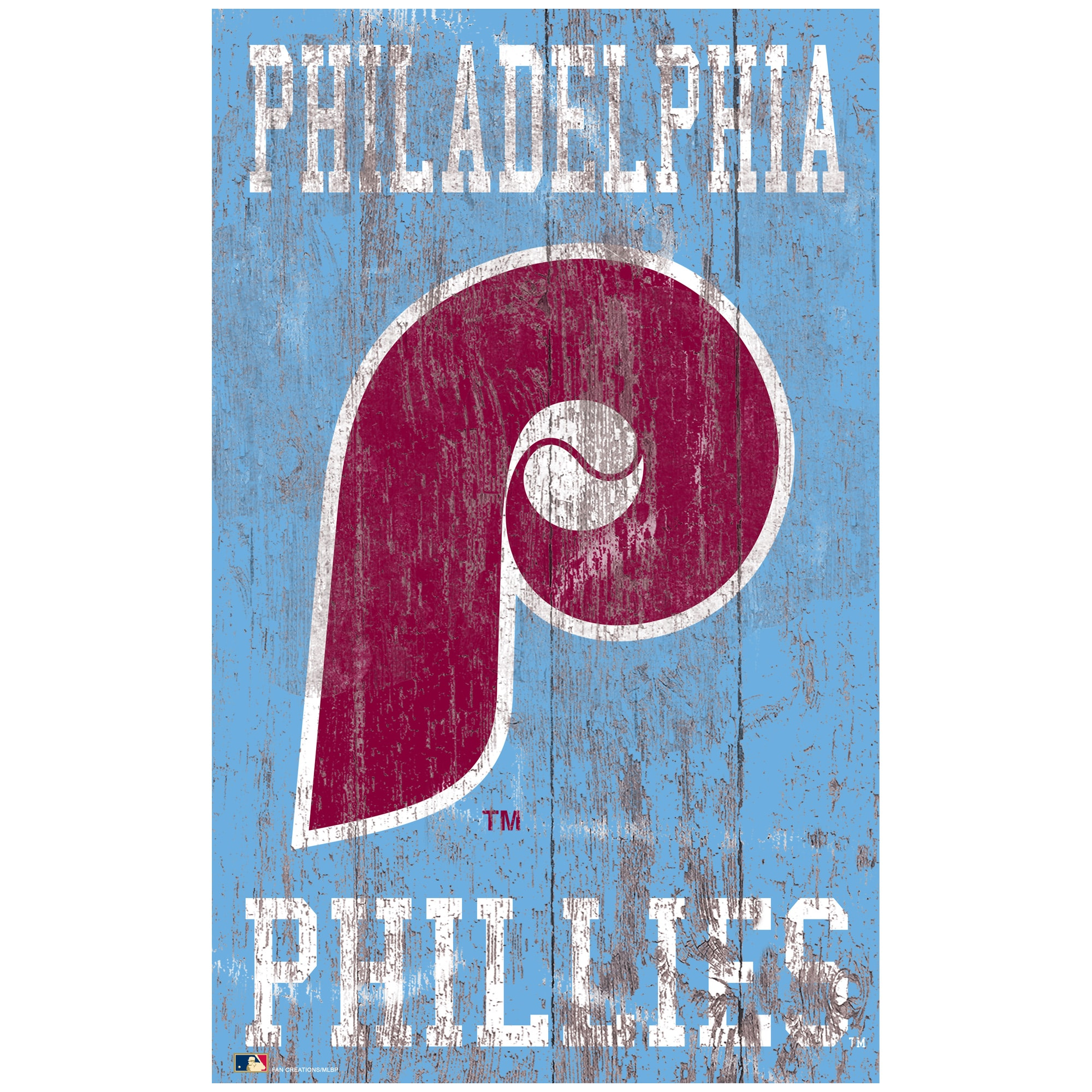 Philadelphia Phillies 11'' x 19'' Heritage Distressed Logo Sign