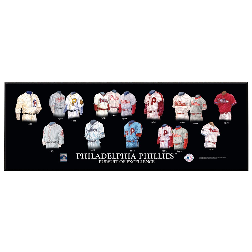 Philadelphia Phillies 8'' x 24'' Uniform Evolution Plaque