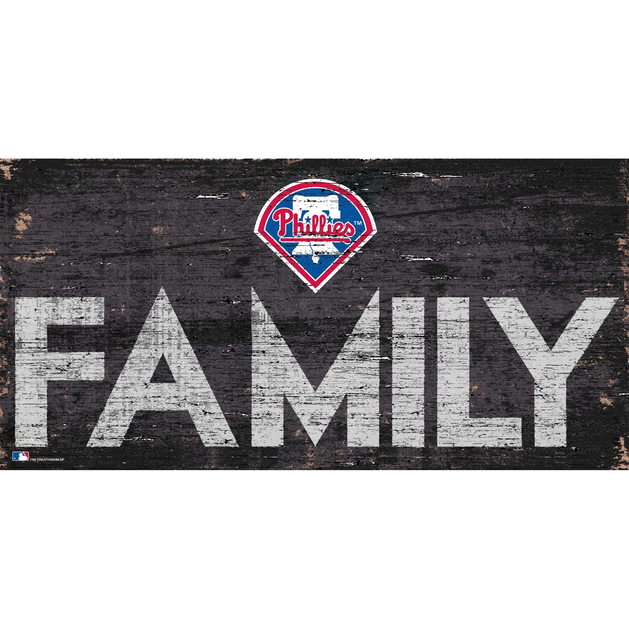 Philadelphia Phillies 12'' x 6'' Family Sign