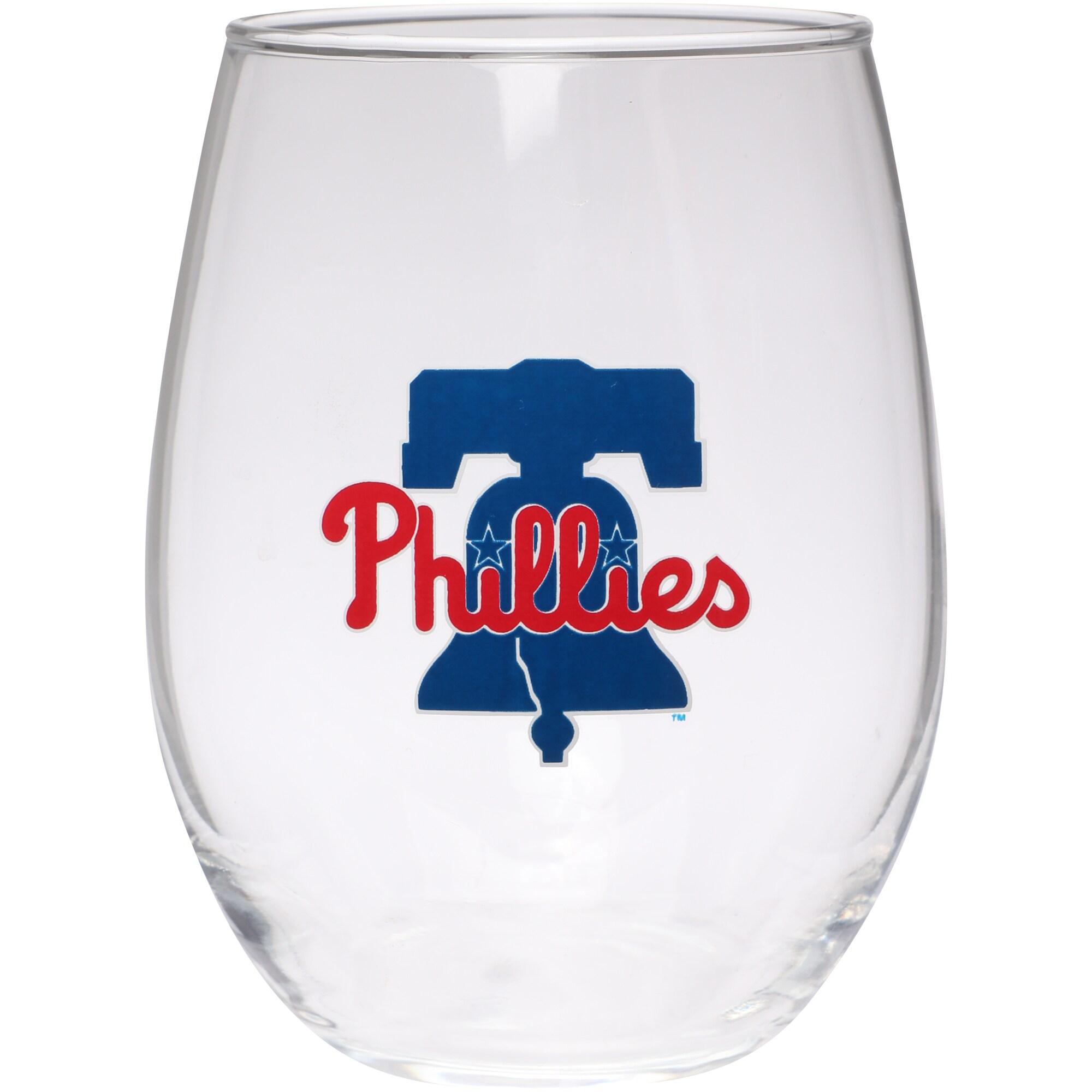 Philadelphia Phillies 15oz. Team Logo Stemless Wine Glass