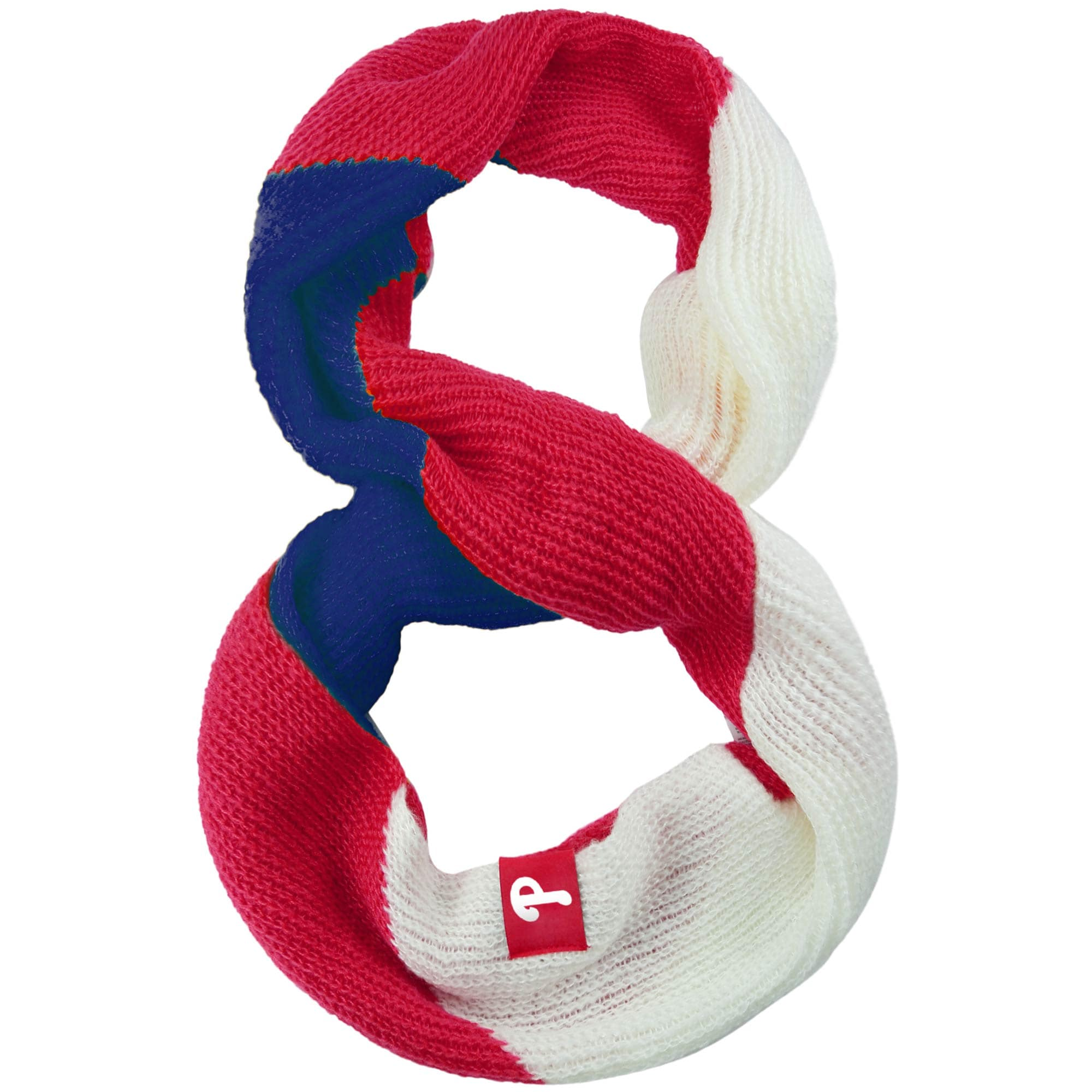 Philadelphia Phillies Women's Color Block Knit Infinity Scarf