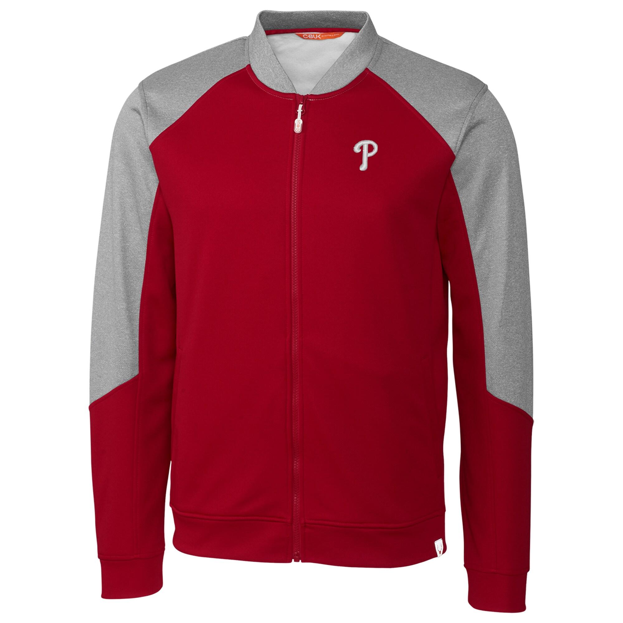 Philadelphia Phillies Cutter & Buck Pop Fly Full-Zip Jacket - Red