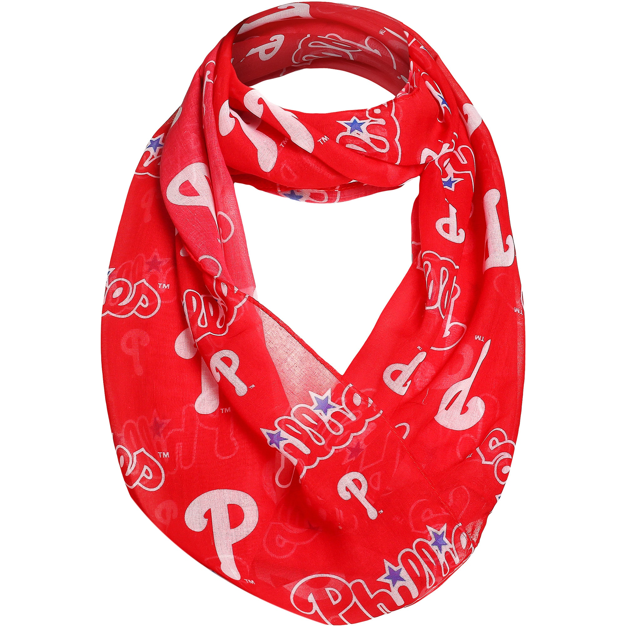 Philadelphia Phillies Team Logo Infinity Scarf