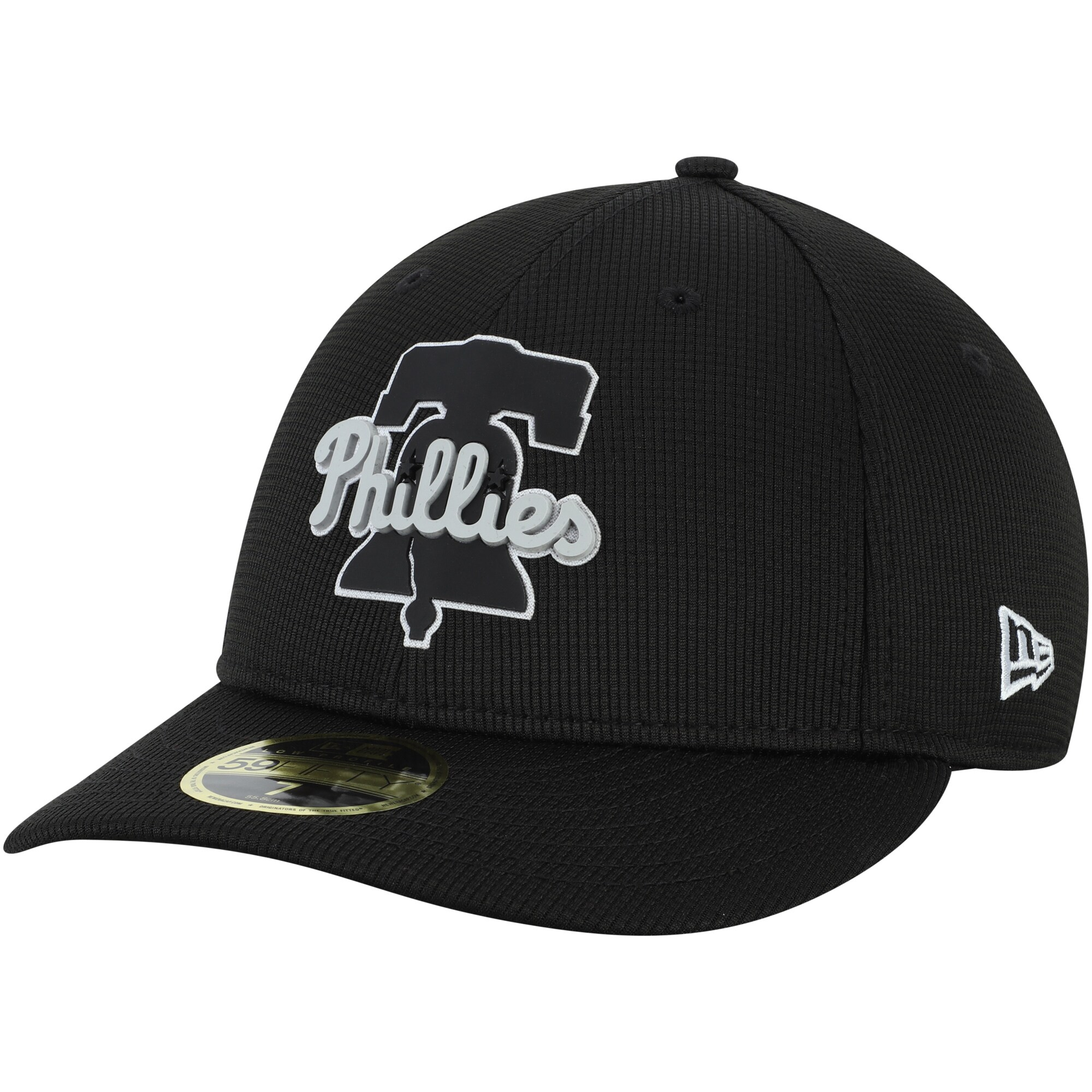 Philadelphia Phillies New Era Team Clubhouse Low Profile 59FIFTY Fitted Hat - Black
