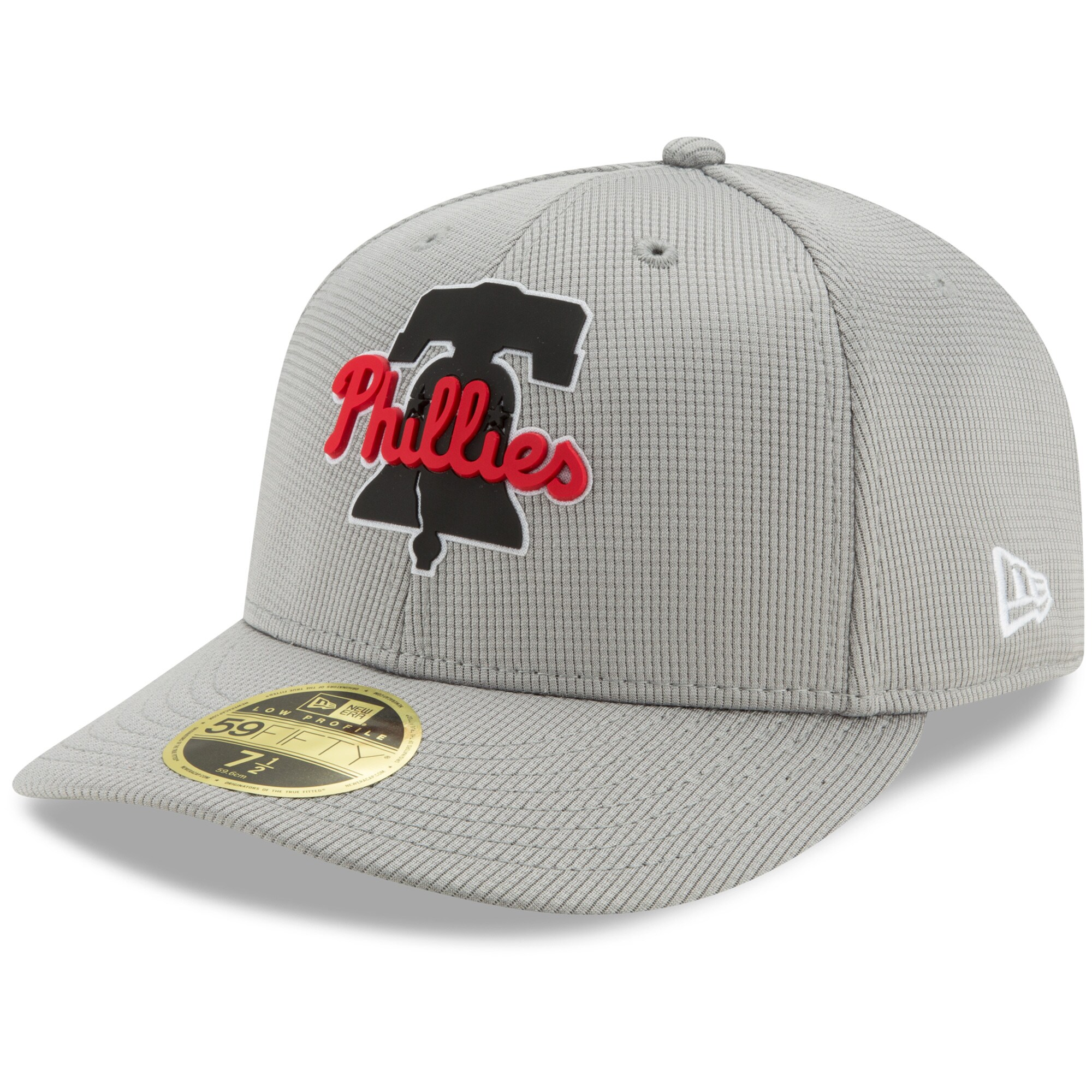 Philadelphia Phillies New Era Clubhouse Low Profile 59FIFTY Fitted Hat - Gray
