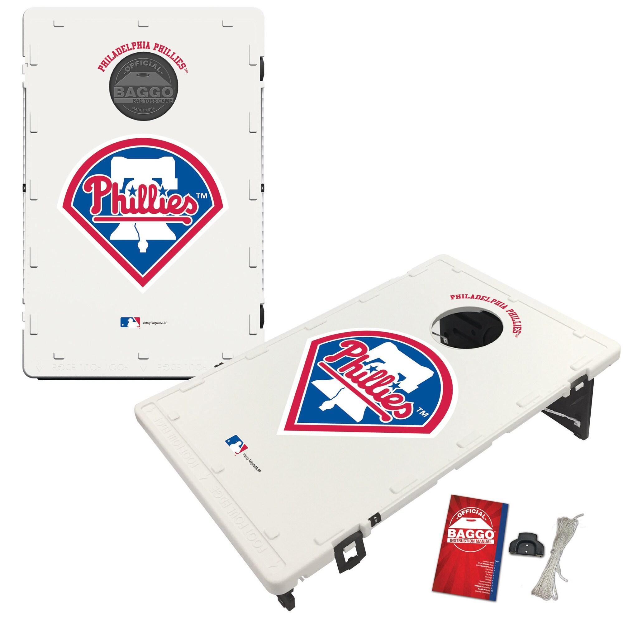 Philadelphia Phillies 2' x 3' BAGGO Classic Cornhole Board Tailgate Toss Set