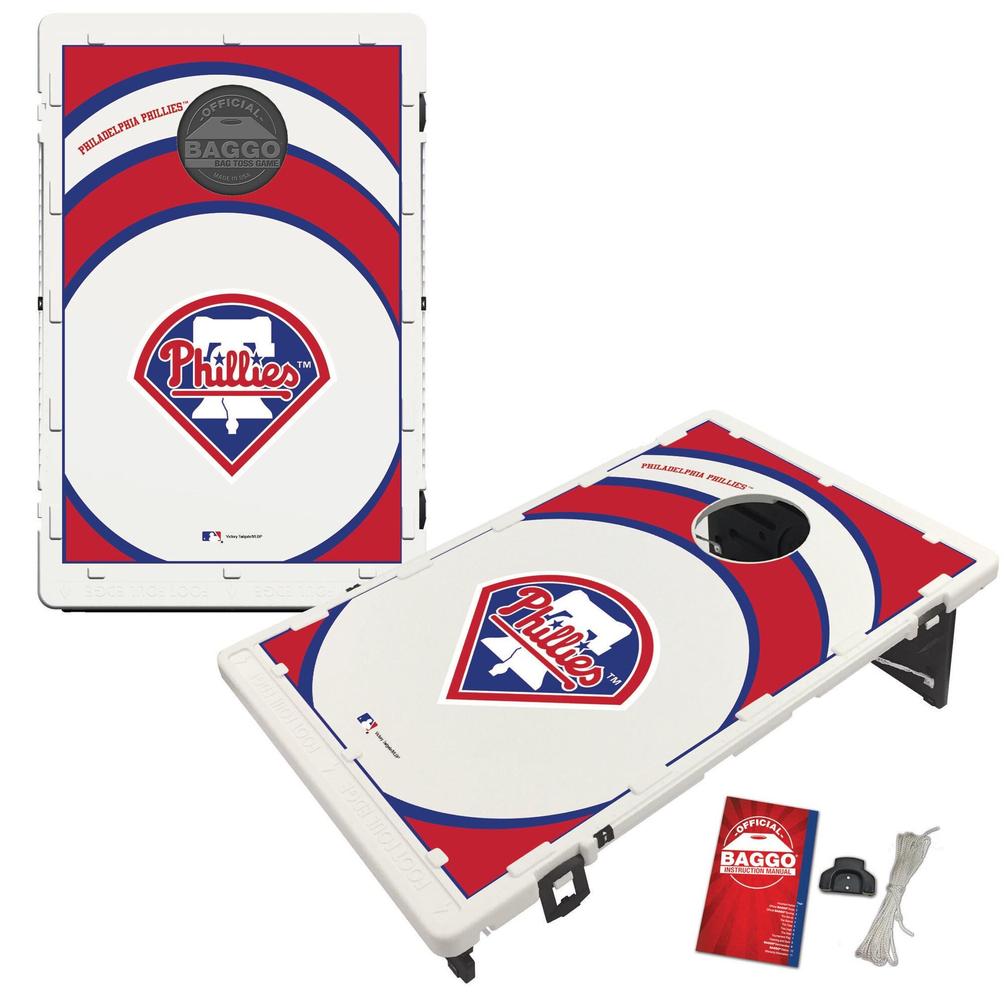 Philadelphia Phillies 2' x 3' BAGGO Vortex Cornhole Board Tailgate Toss Set