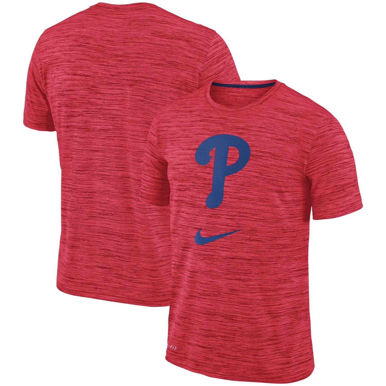 Philadelphia Phillies Nike Velocity Performance T-Shirt - Red