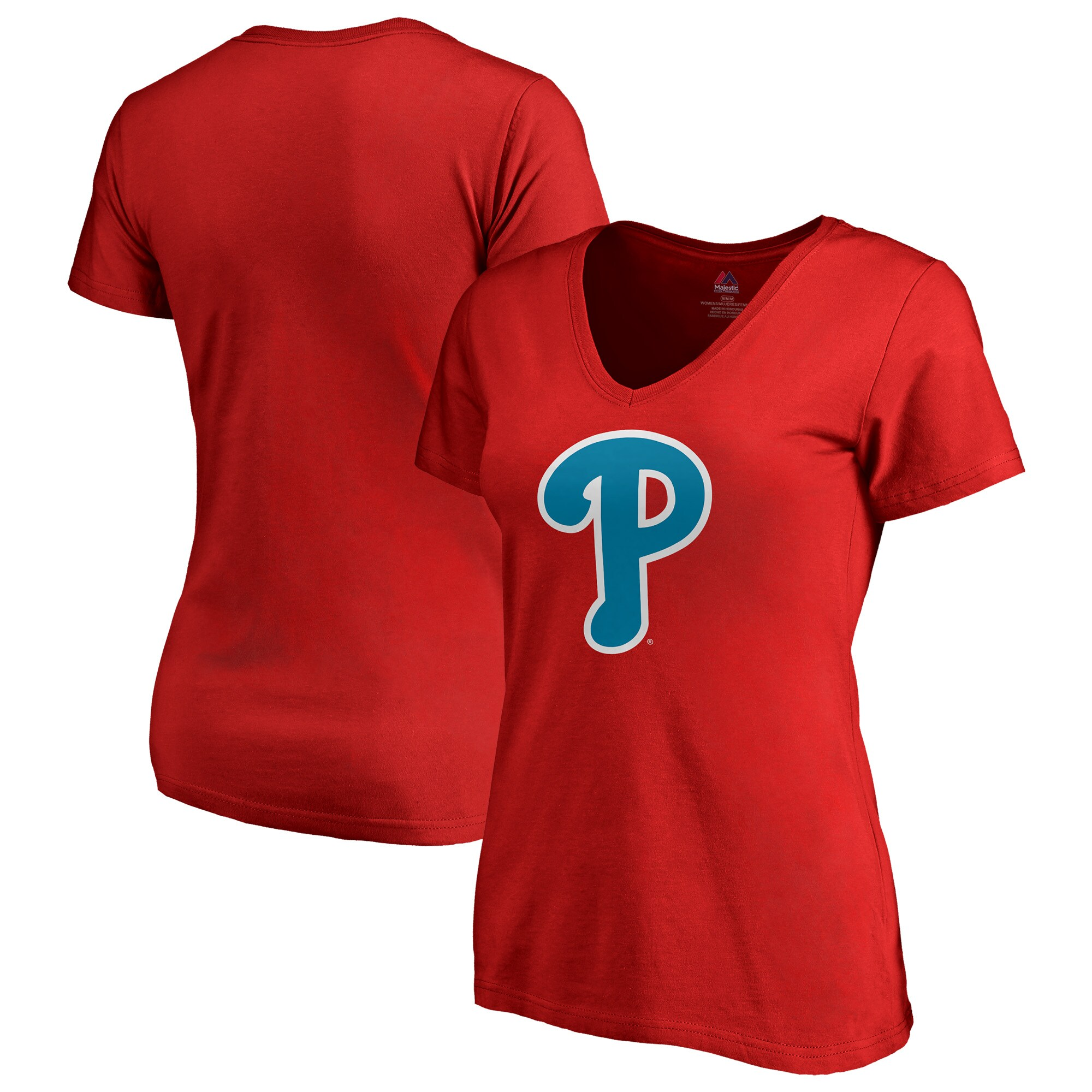 Philadelphia Phillies Majestic Women's 2018 Players' Weekend V-Neck T-Shirt - Red