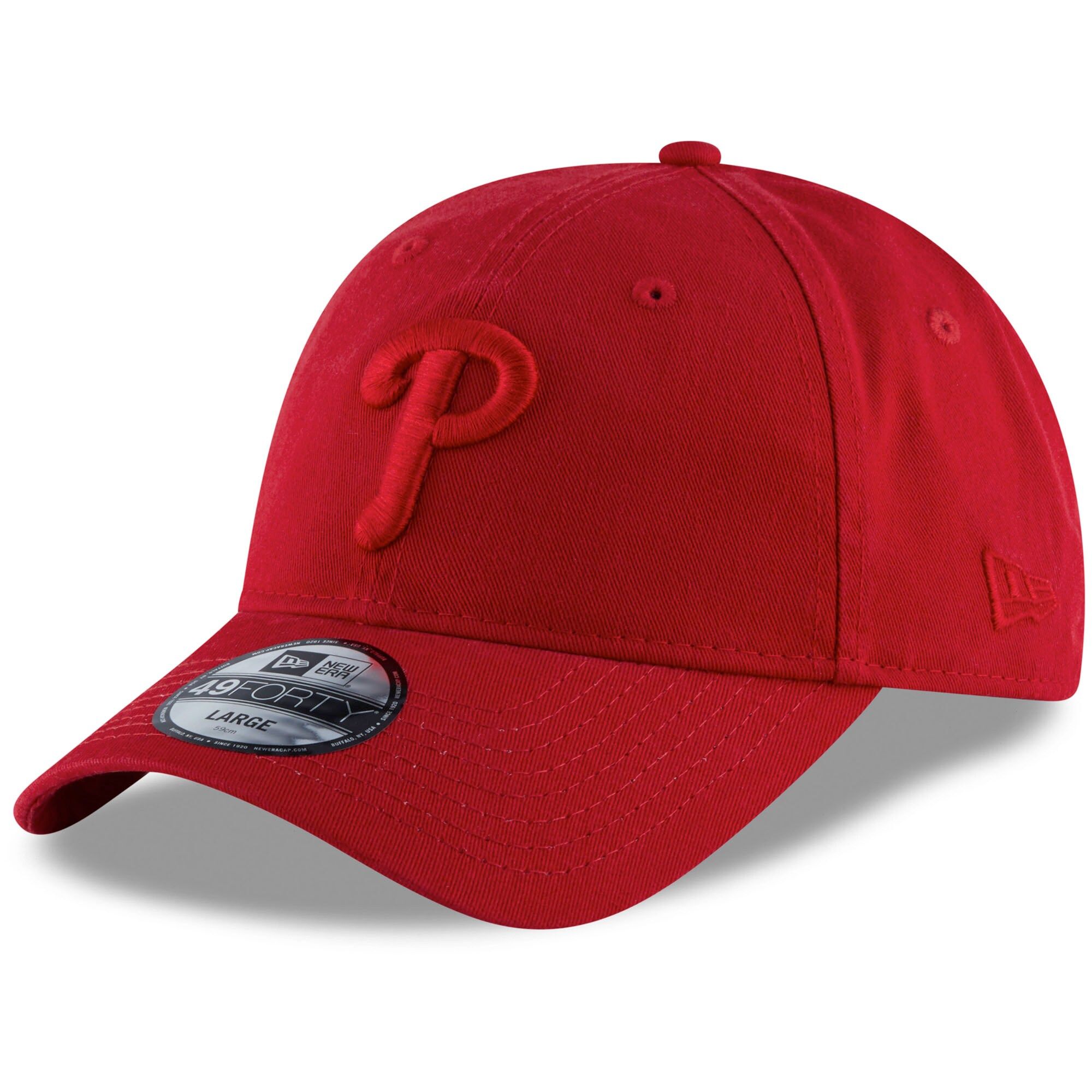Philadelphia Phillies New Era Core Tonal 49FORTY Fitted Hat - Red
