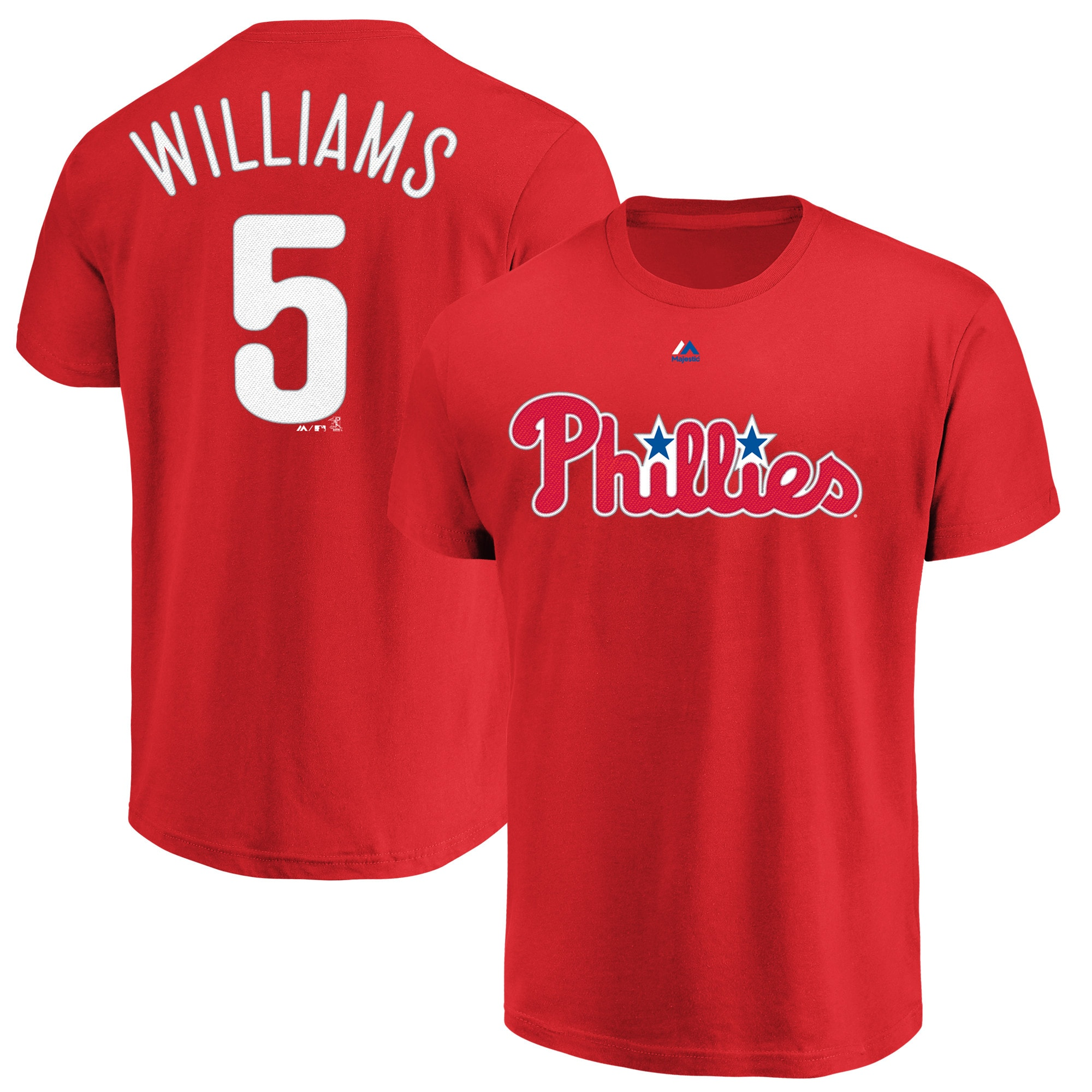 Nick Williams Philadelphia Phillies Majestic Official Name & Number T-Shirt - Red