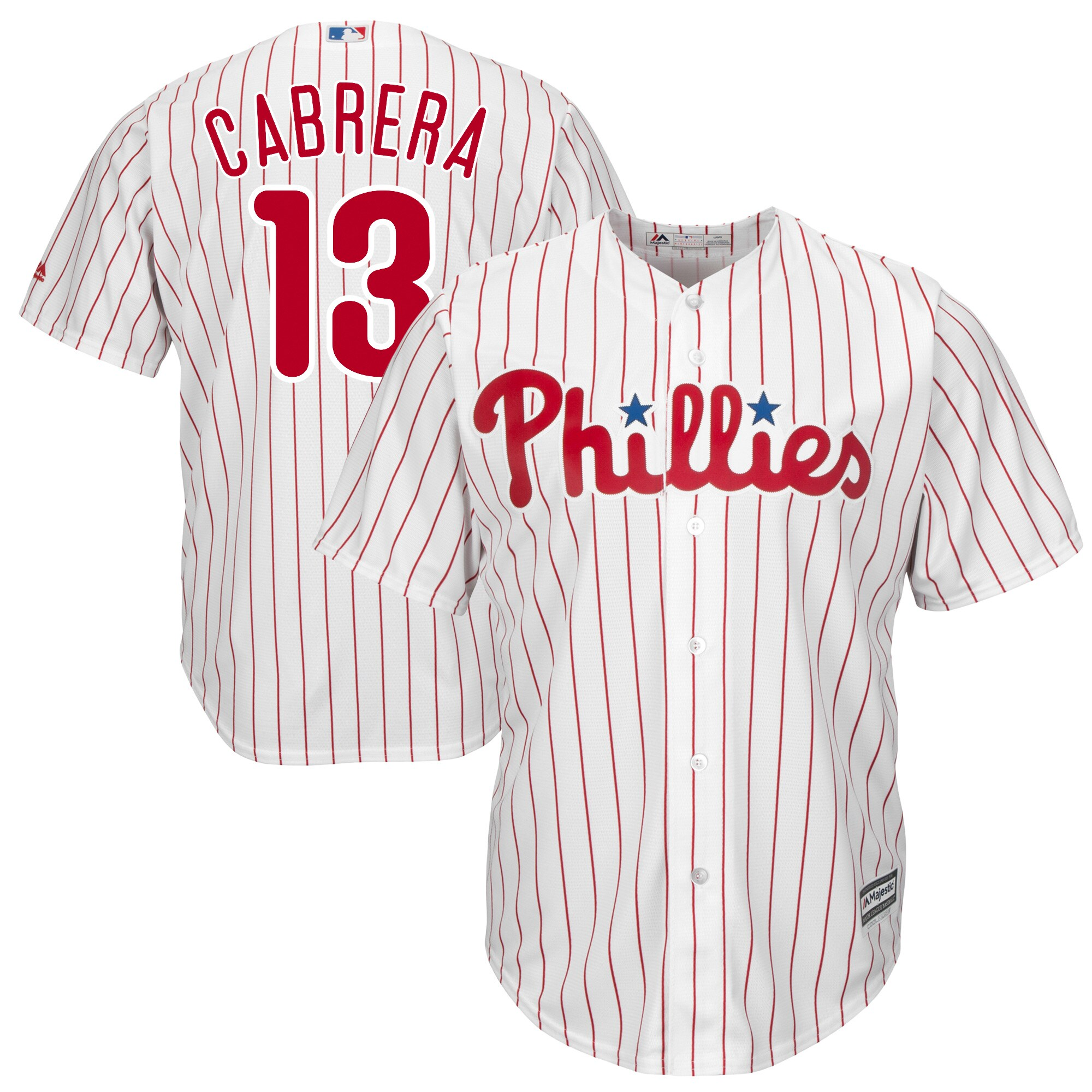 Asdrubal Cabrera Philadelphia Phillies Majestic Home Official Cool Base Player Jersey - White