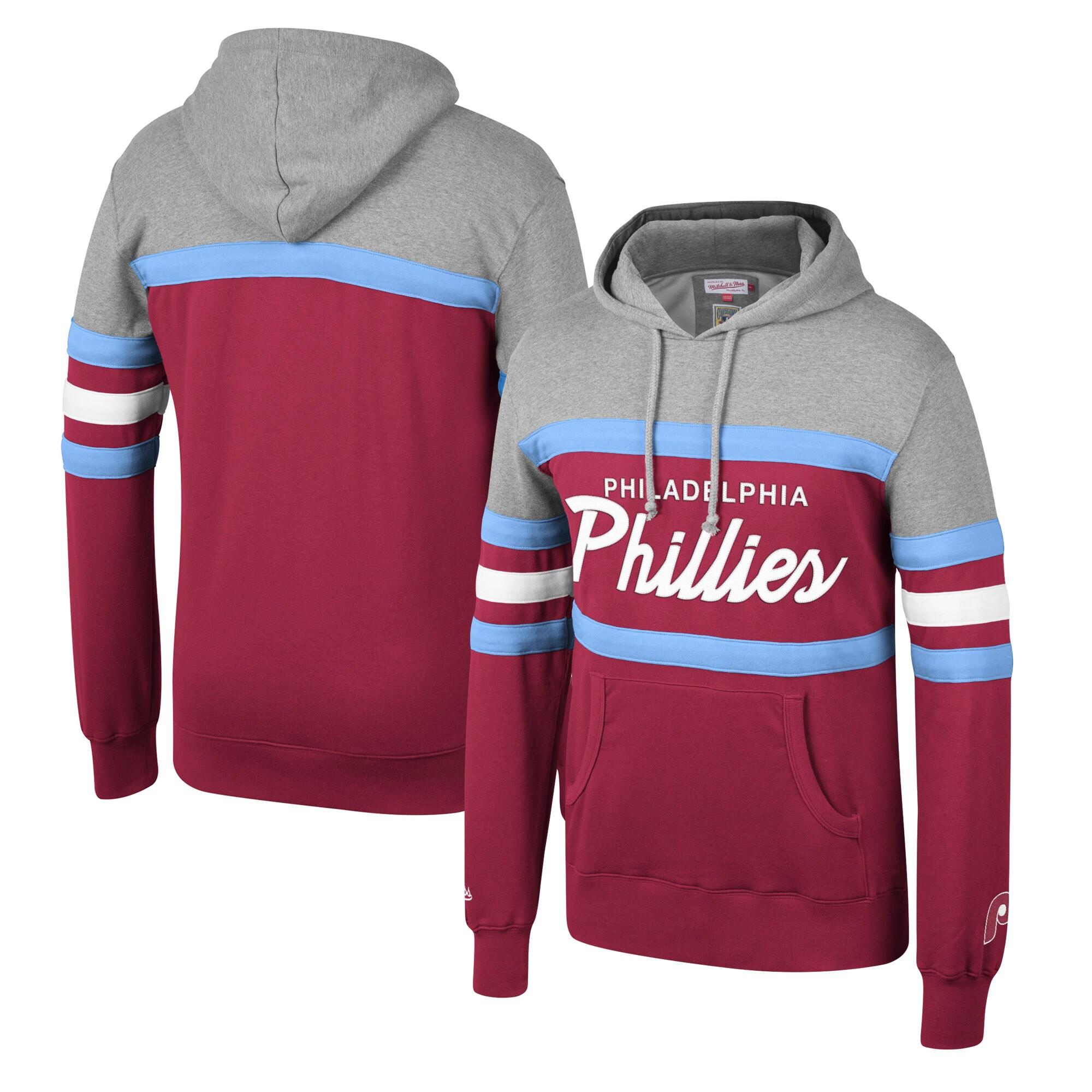 Philadelphia Phillies Mitchell & Ness Head Coach Hoodie - Maroon
