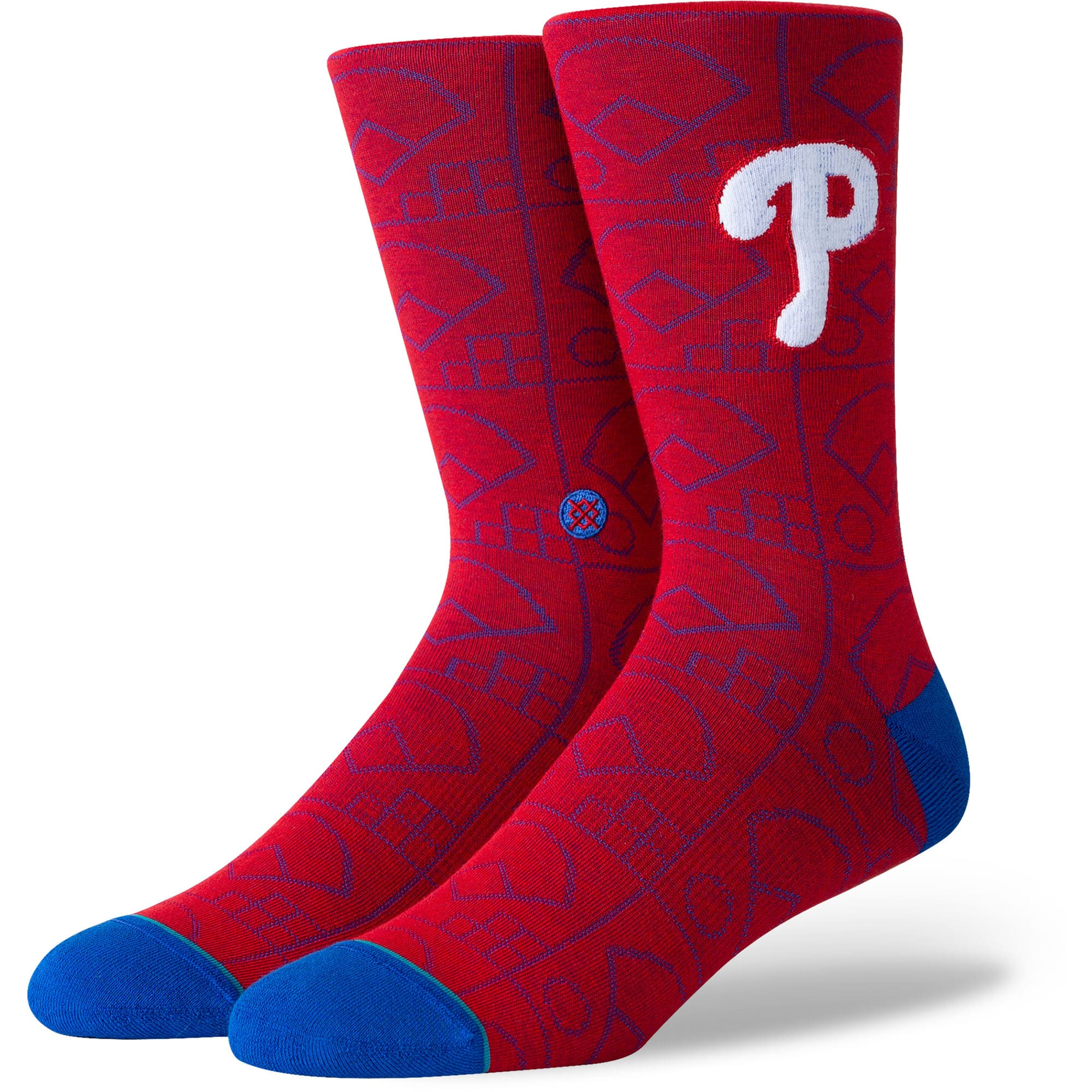 Philadelphia Phillies Stance Scorebook Crew Socks - Red