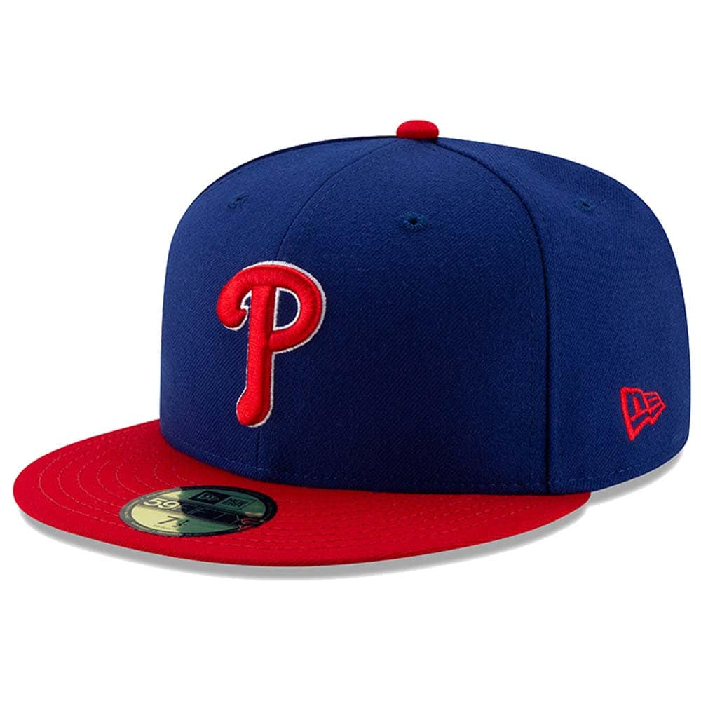 Philadelphia Phillies New Era Alternate Authentic Collection On-Field 59FIFTY Fitted Hat - Royal/Red