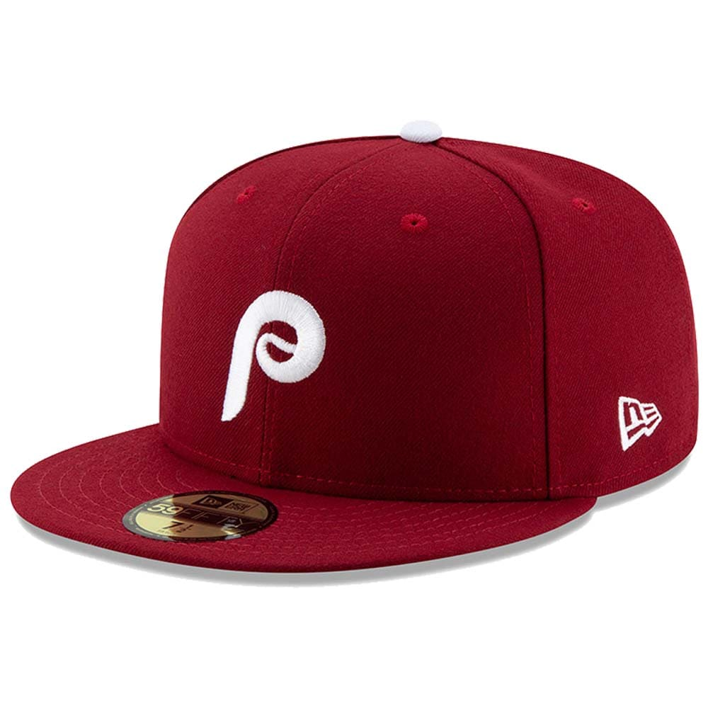Philadelphia Phillies New Era Alternate 2 Authentic Collection On-Field 59FIFTY Fitted Hat - Maroon