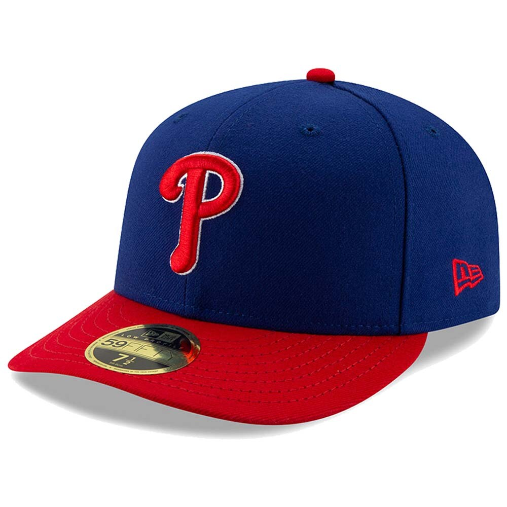 Philadelphia Phillies New Era Authentic Collection Alternate On-Field Low Profile 59FIFTY Fitted Hat - Royal/Red