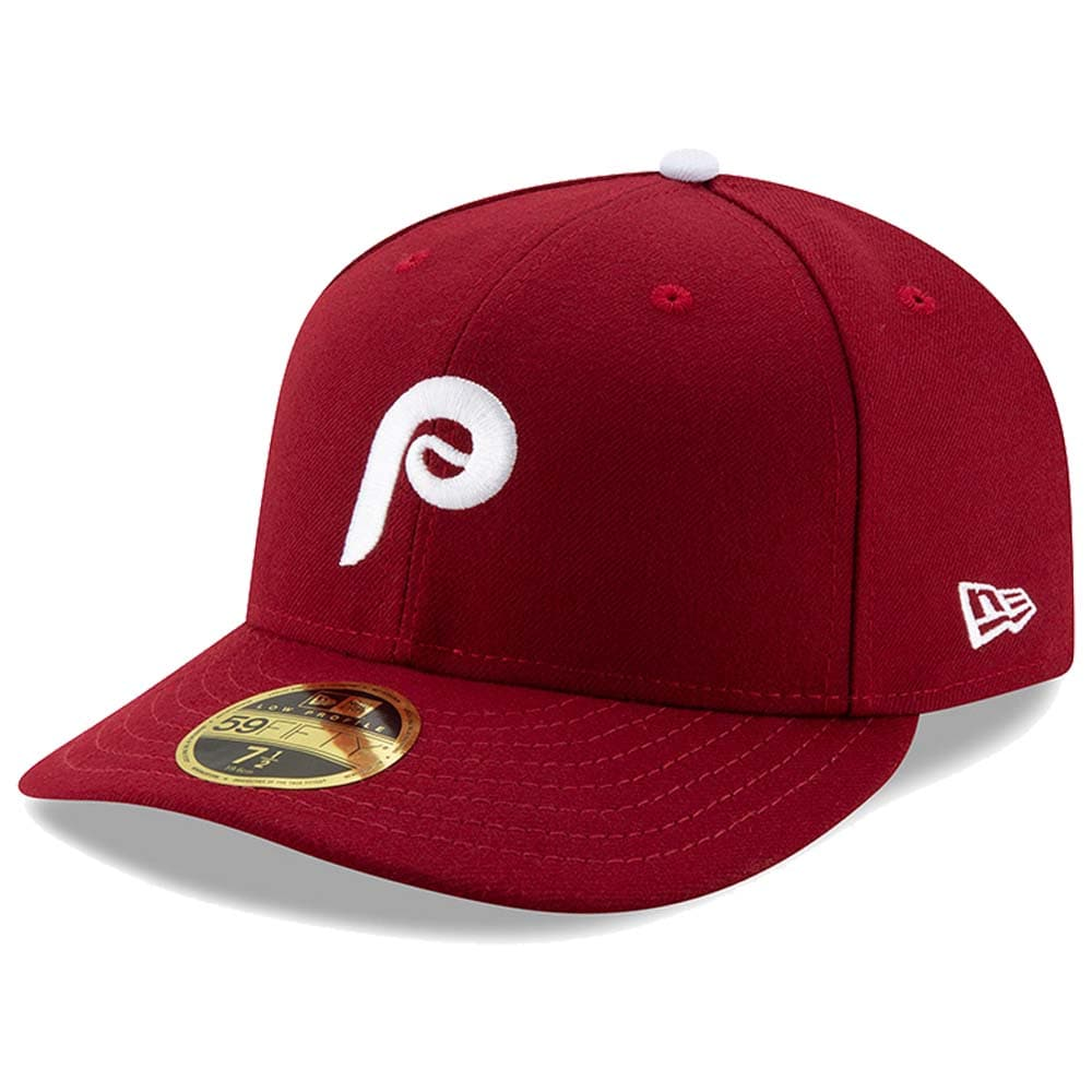 Philadelphia Phillies New Era Authentic Collection Alternate 2 On-Field Low Profile 59FIFTY Fitted Hat - Maroon