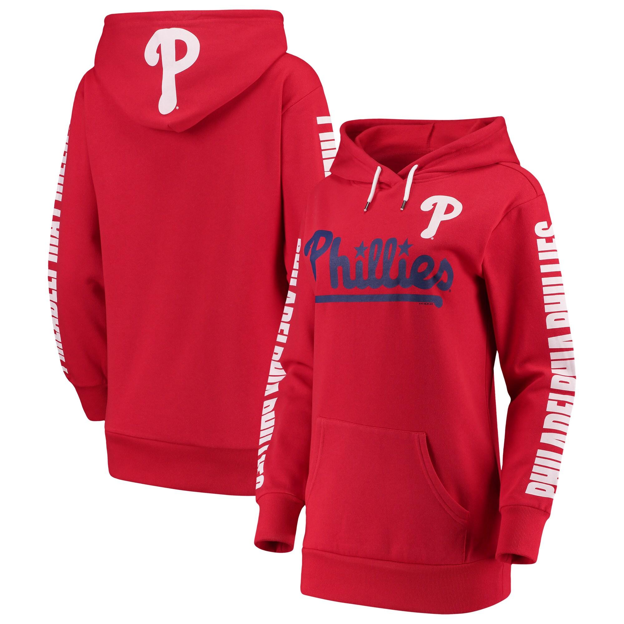 Philadelphia Phillies G-III 4Her by Carl Banks Women's Extra Innings Pullover Hoodie - Red