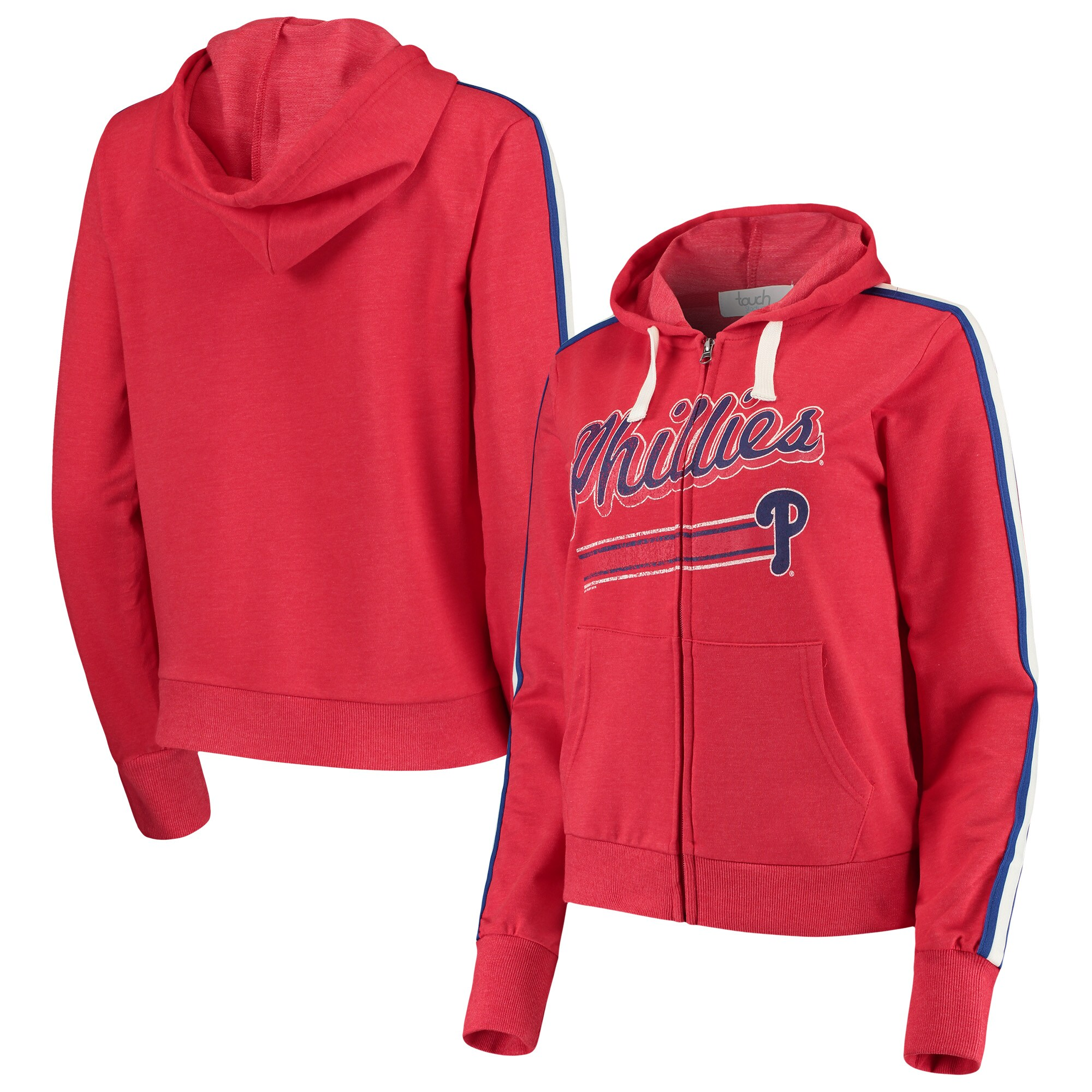 Philadelphia Phillies Touch by Alyssa Milano Women's Conference Full-Zip Hoodie - Red