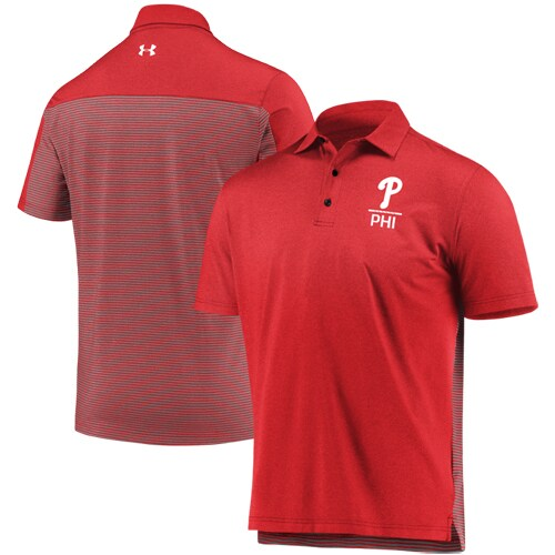 Philadelphia Phillies Under Armour Novelty Performance Polo - Red
