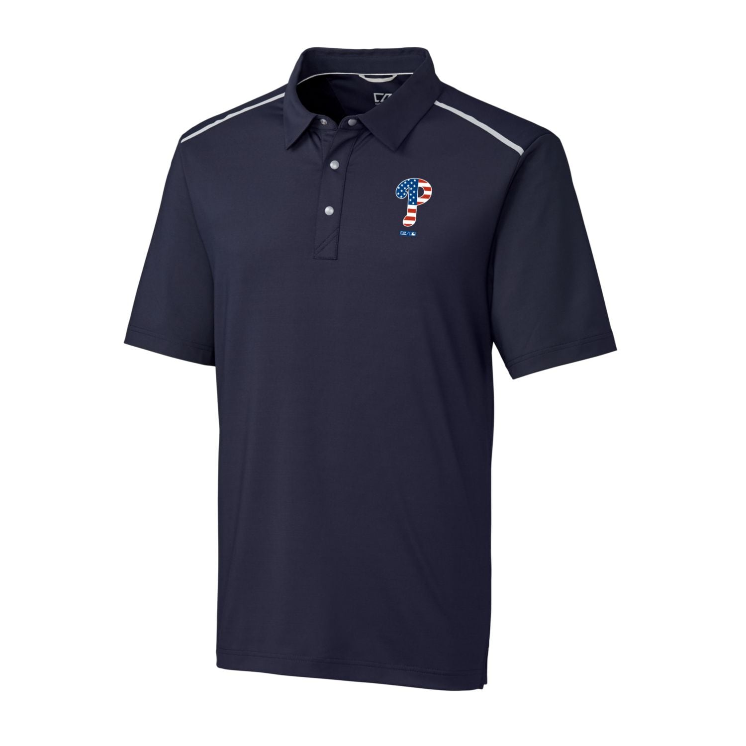 Philadelphia Phillies Cutter & Buck Stars & Stripes Big & Tall Fusion Polo - Navy
