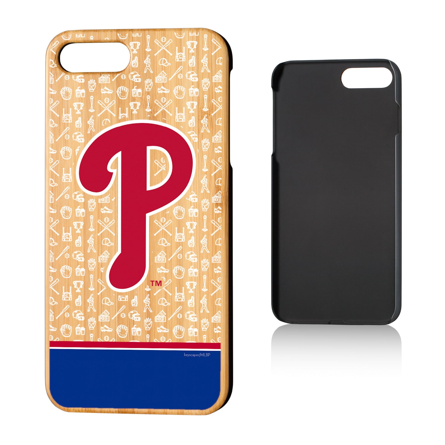 Philadelphia Phillies iPhone 7 Plus/8 Plus Stripe Bamboo Case
