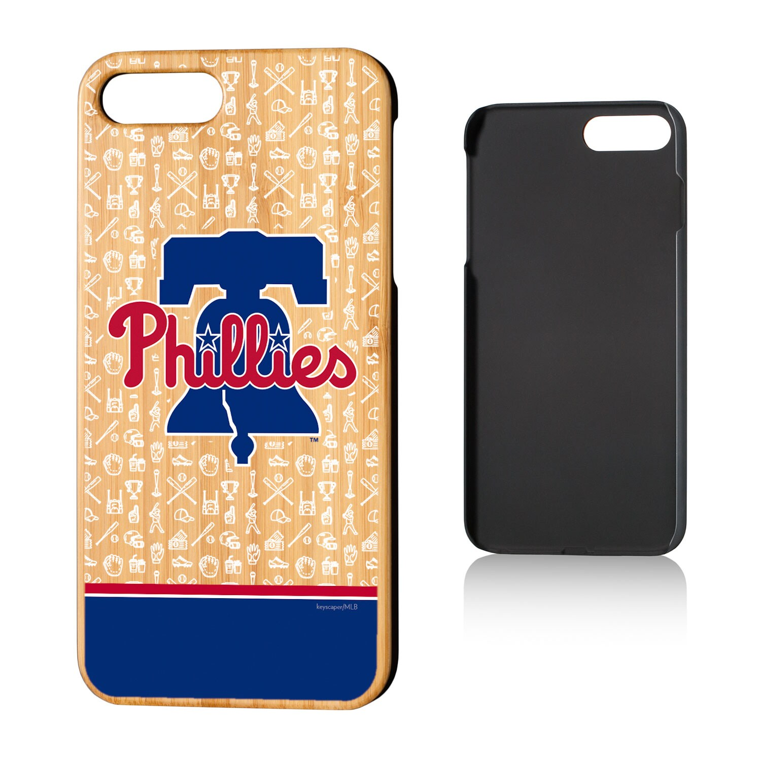 Philadelphia Phillies iPhone 7 Plus/8 Plus Stripe Logo Bamboo Case