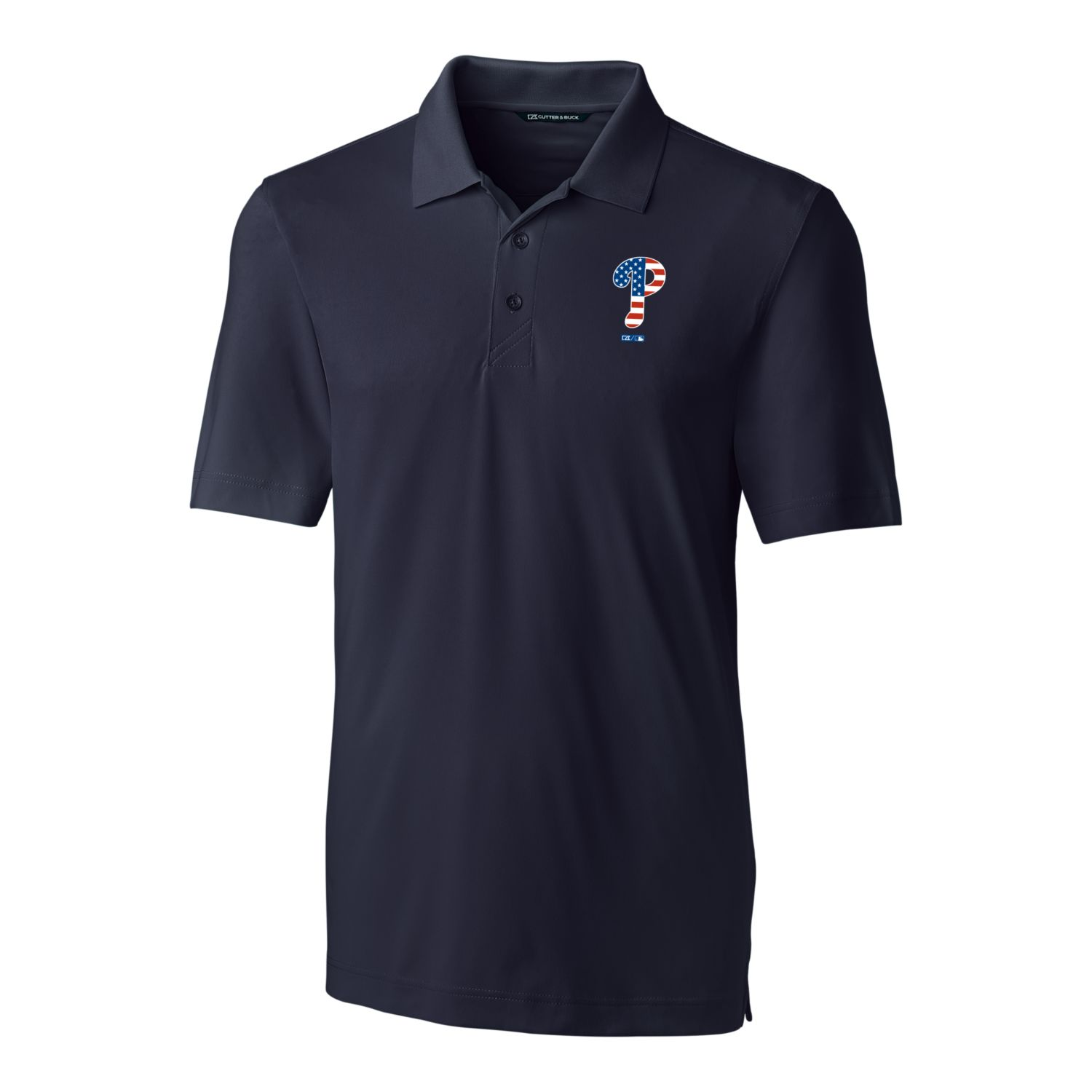 Philadelphia Phillies Cutter & Buck Stars & Stripes Forge Polo - Navy