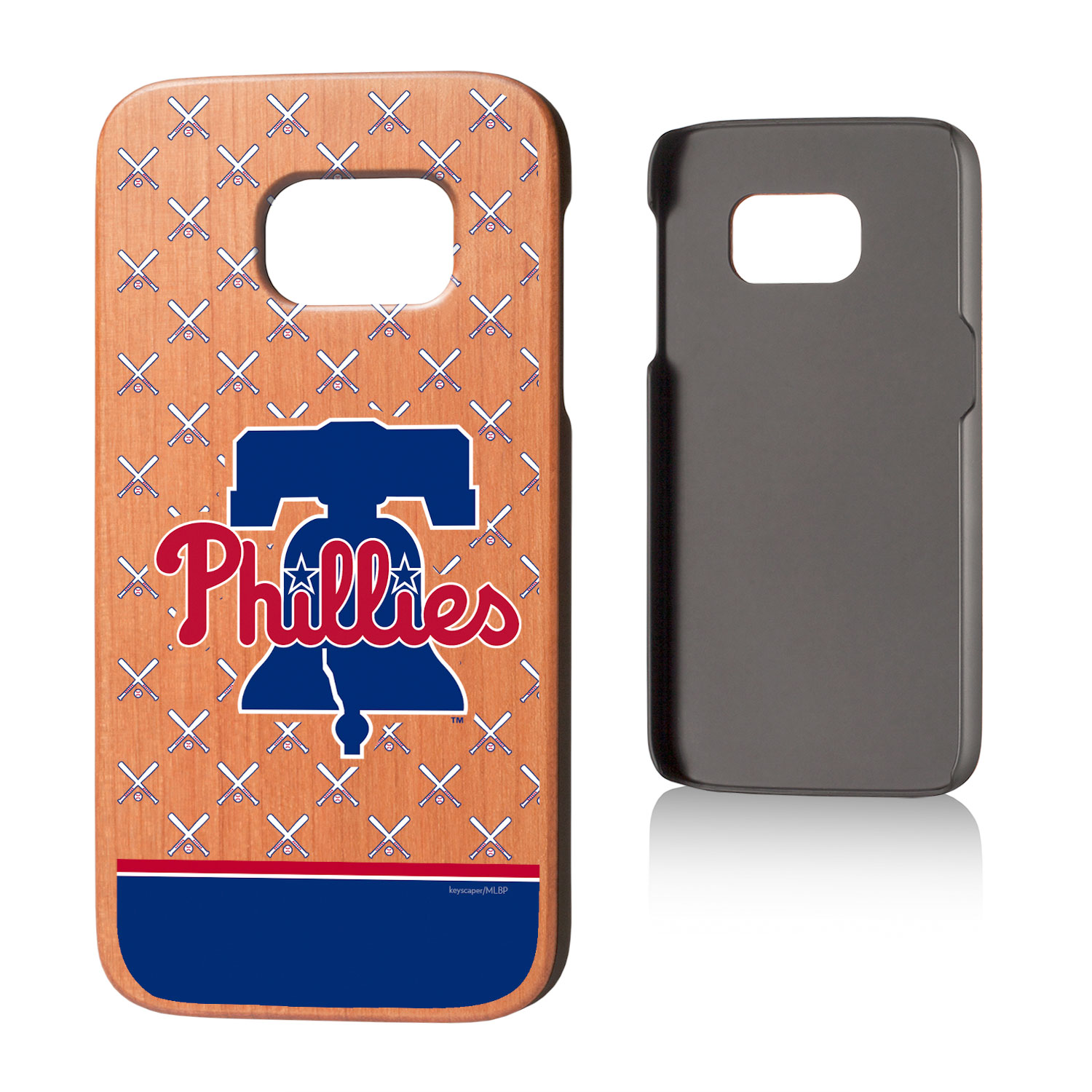 Philadelphia Phillies Galaxy S7 Stripe Cherry Wood Case