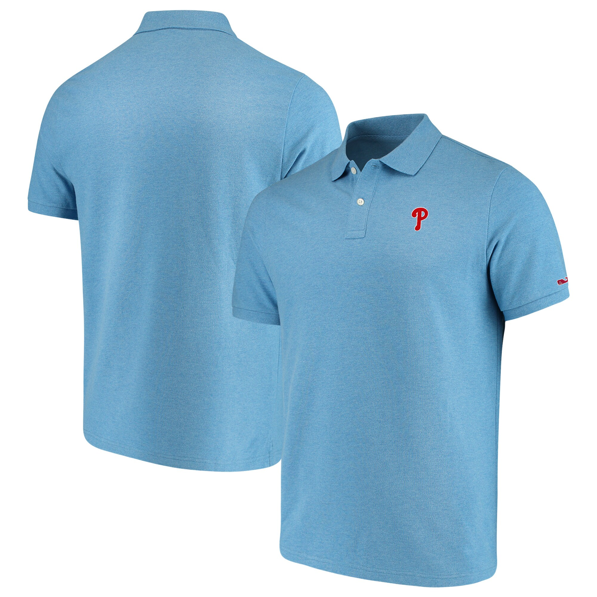 Philadelphia Phillies Vineyard Vines Stretch Pique Polo - Light Blue