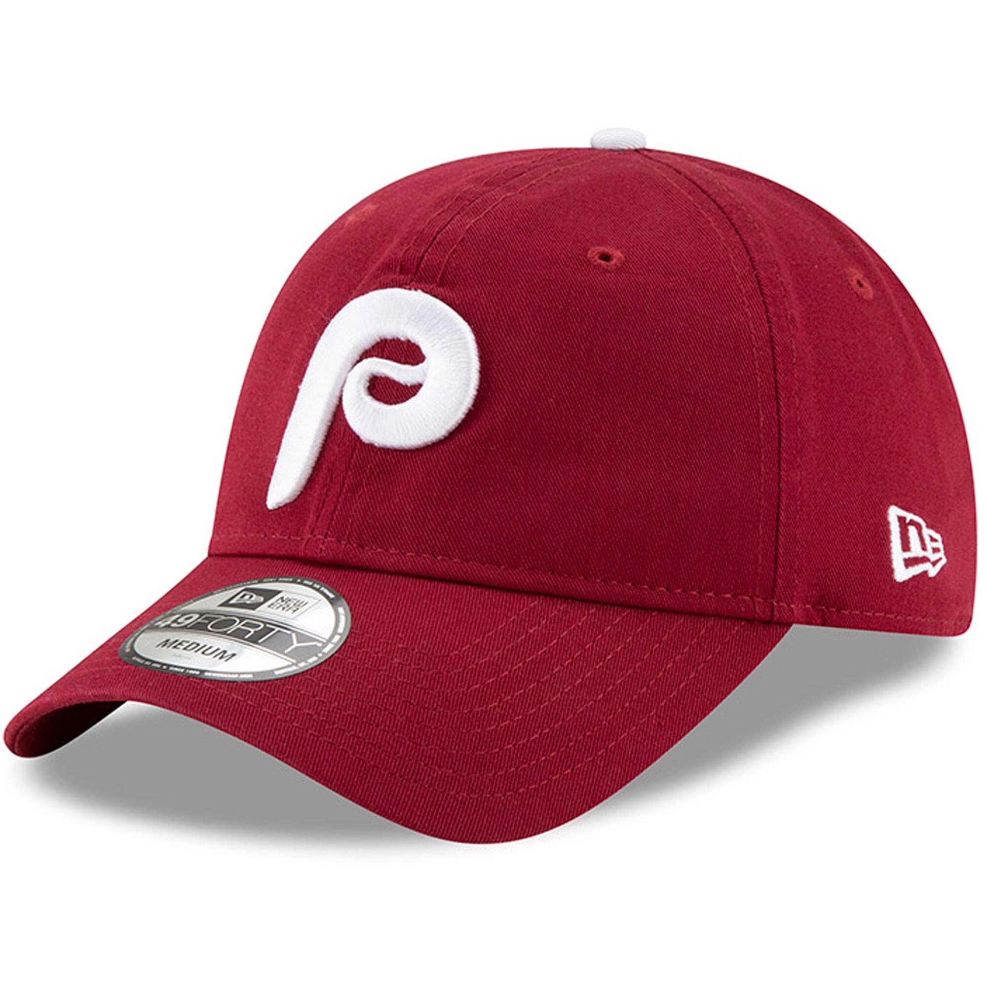 Philadelphia Phillies New Era Alternate 2 Core Replica 49FORTY Fitted Hat - Burgundy