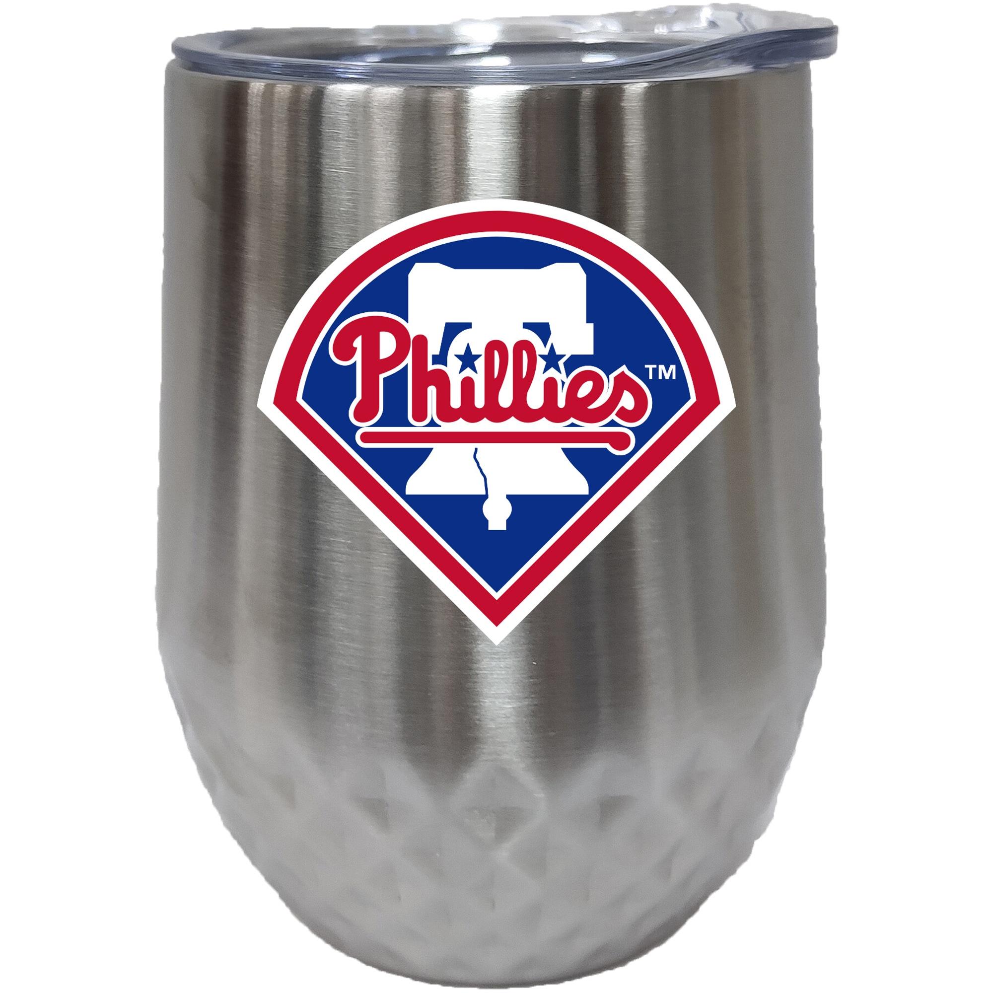 Philadelphia Phillies 12oz. Stainless Steel Stemless Diamond Tumbler